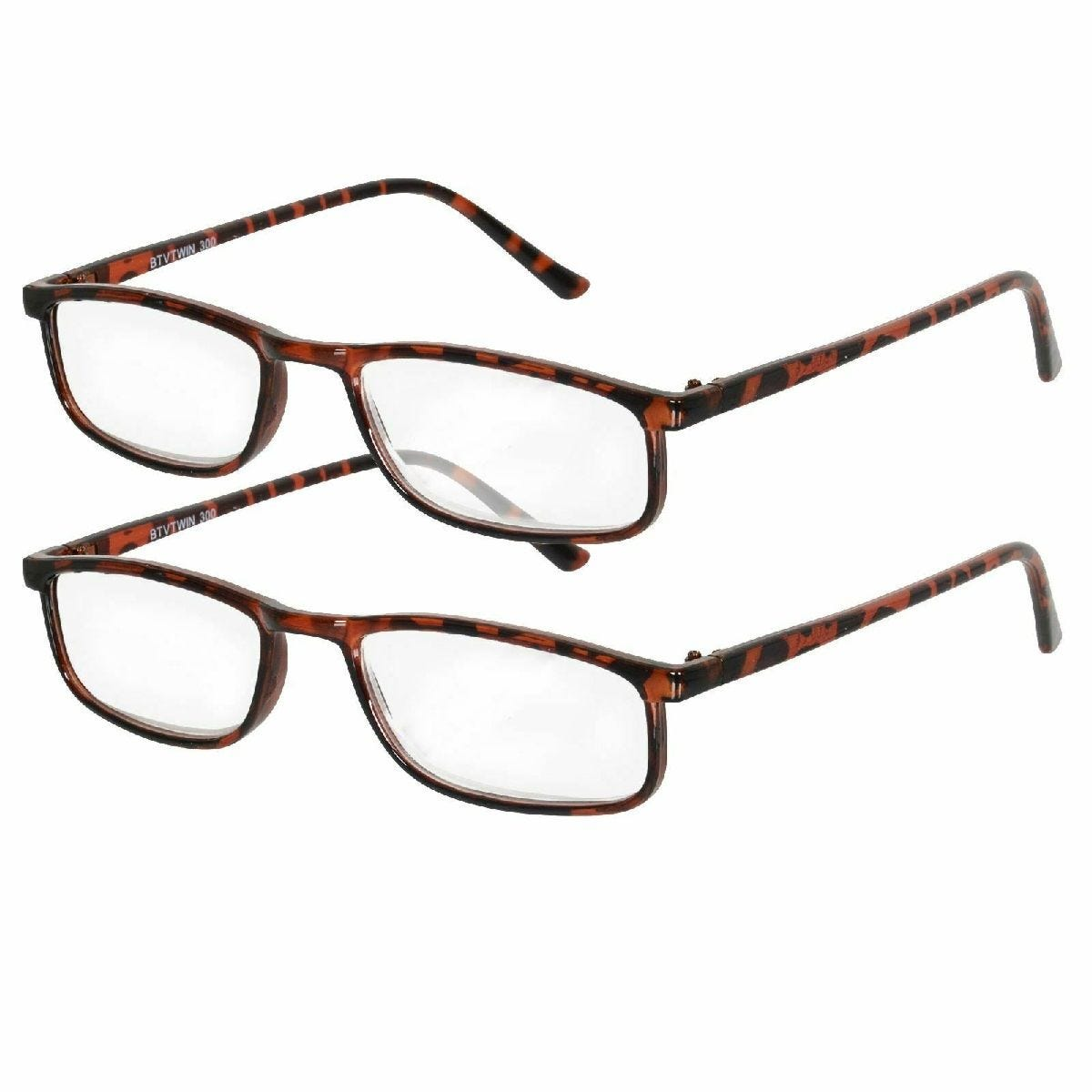 Betaview Duo Pack Strength 2.5 Unisex Reading Glasses - Tortoiseshell