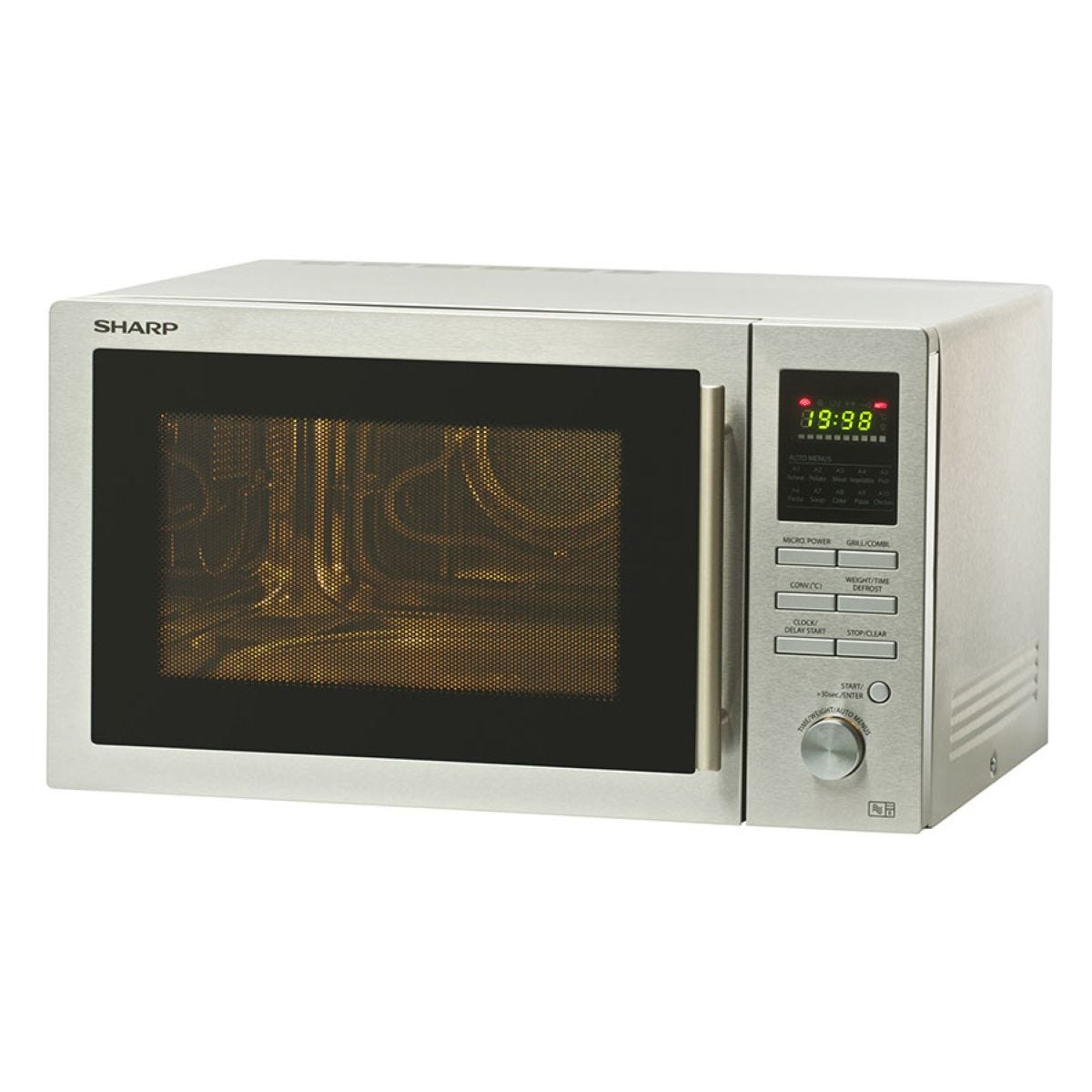Sharp R82STMA 25L 900W Combination Microwave - Stainless Steel