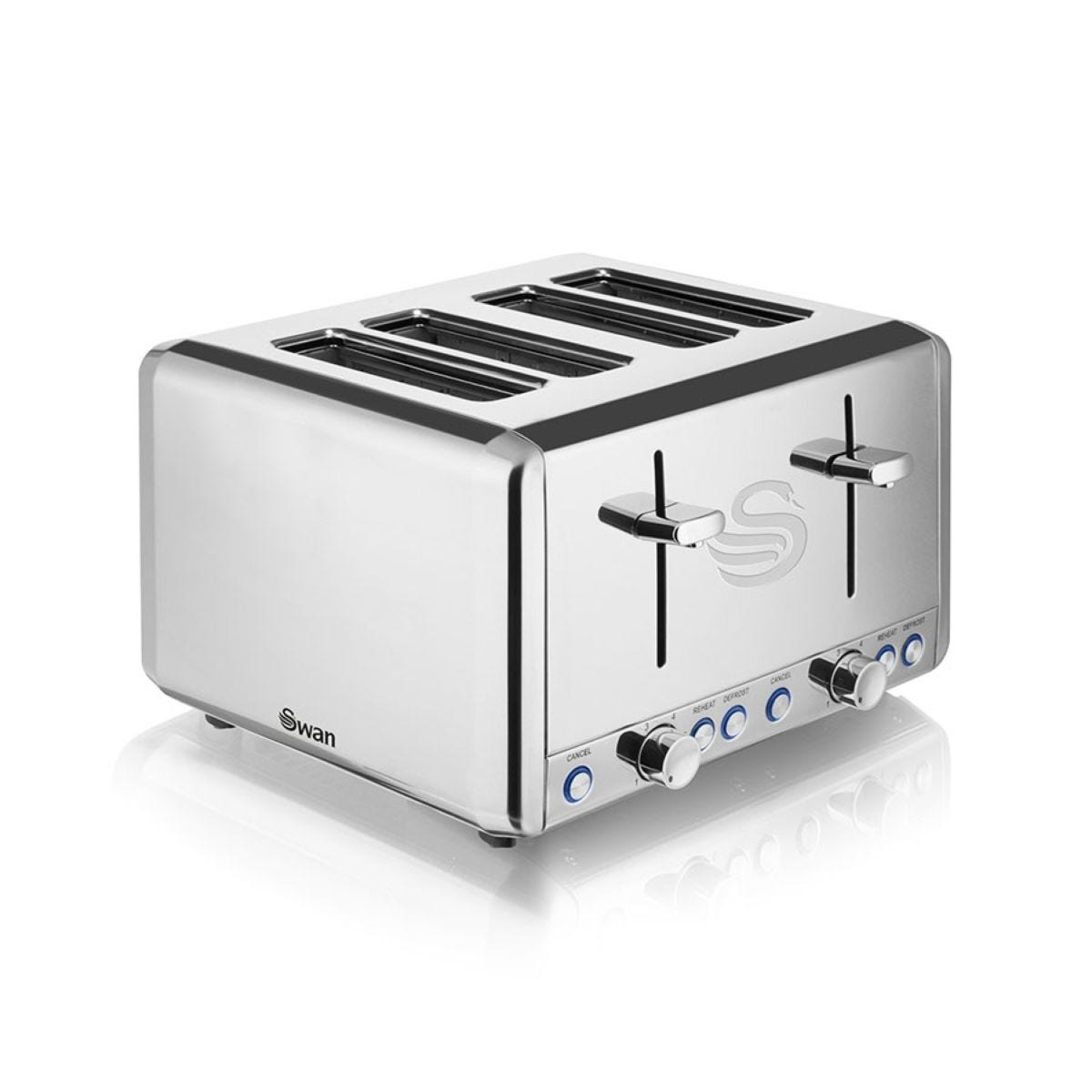 Swan ST14064N 4-Slice Polished Stainless Steel Toaster