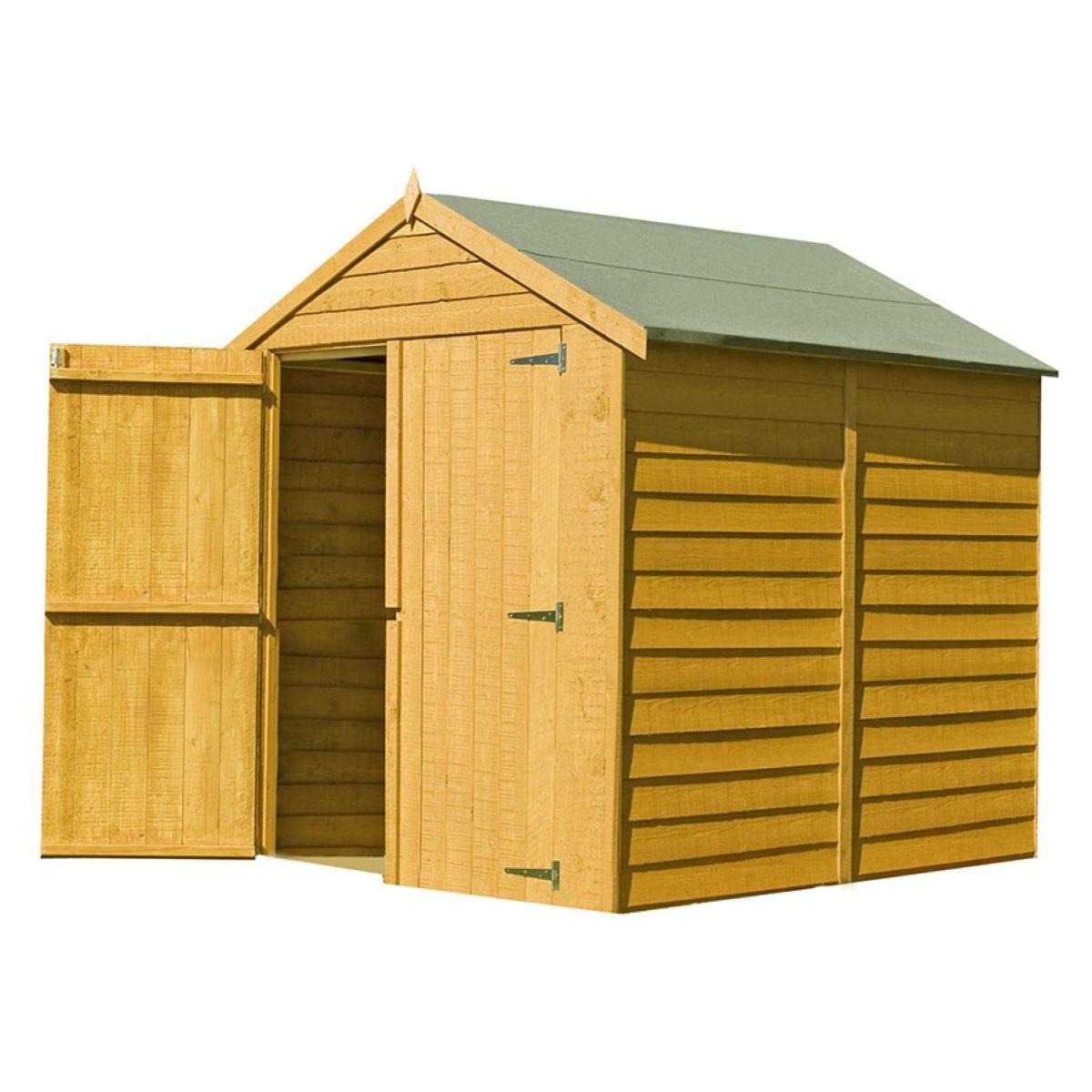Shire Overlap 6ft X 6ft Wooden Apex Garden Shed Robert Dyas