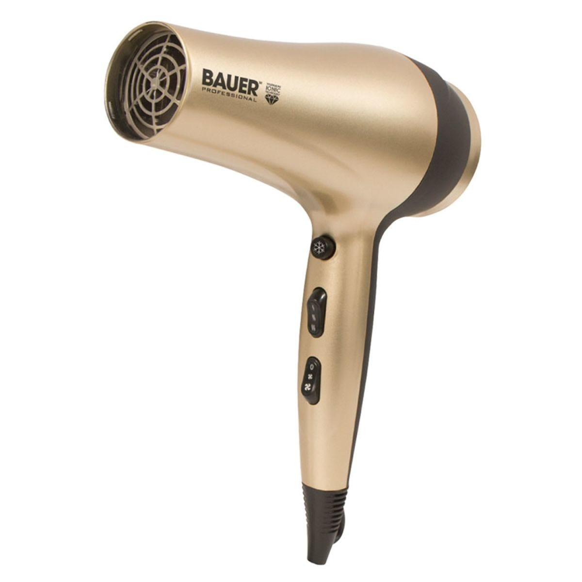 Bauer 38830 TourmaPro 2200W Ionic Hairdryer with Concentrator Nozzle – Gold