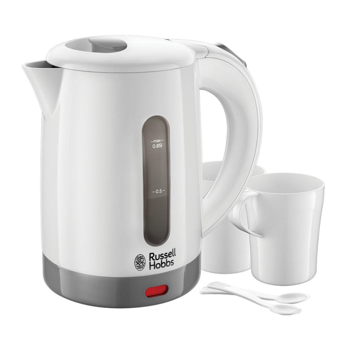 Russell Hobbs 23840 Compact 1000W Travel Kettle – White