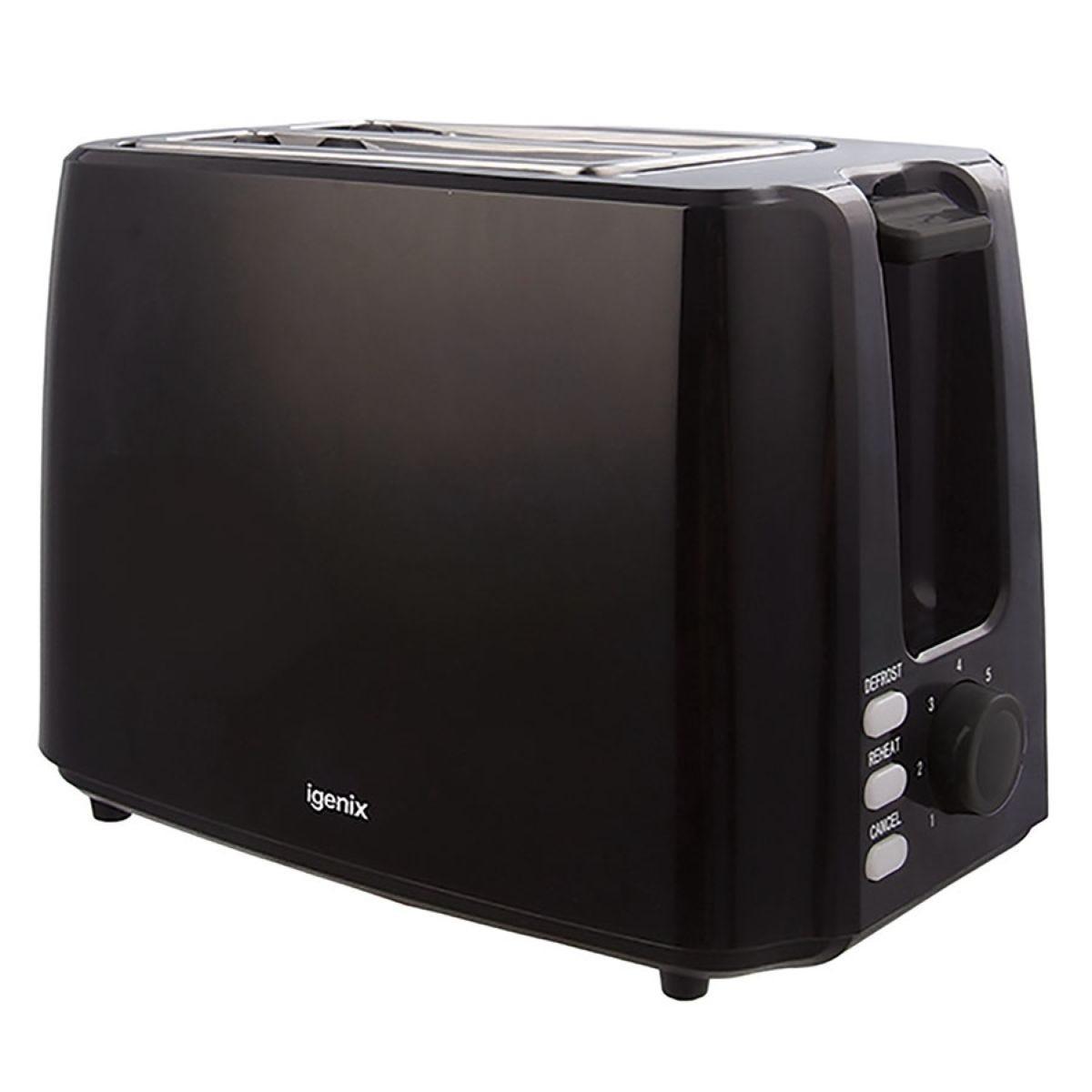Igenix IG3012 2-Slice 750W Toaster - Black