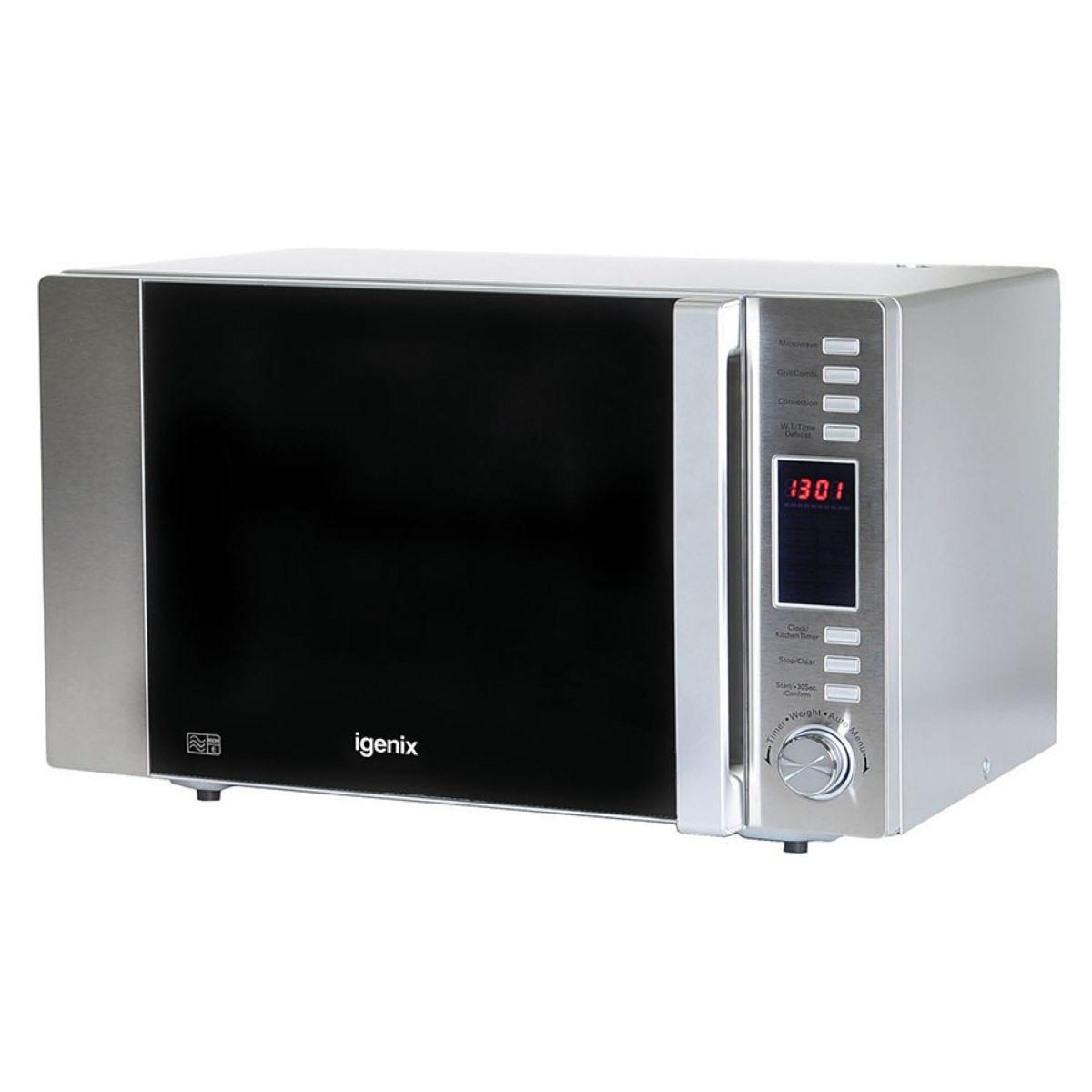 Igenix IG3091 30L Digital Combination 900W Microwave – Stainless Steel