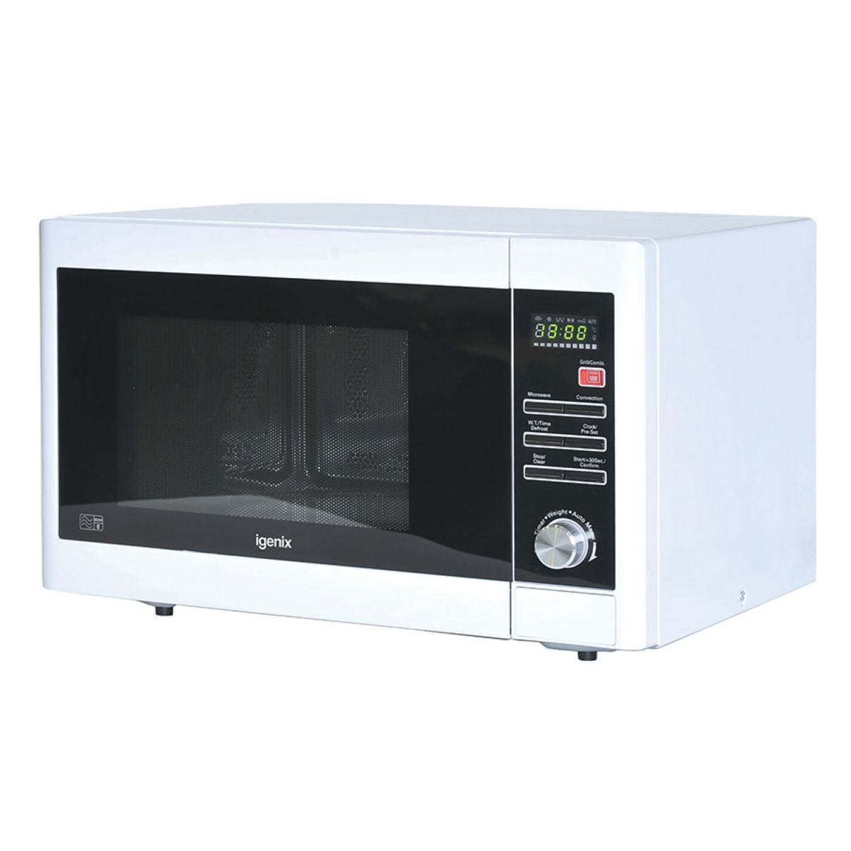 Igenix IG3093 900W Family Size 30L Digital Microwave - White