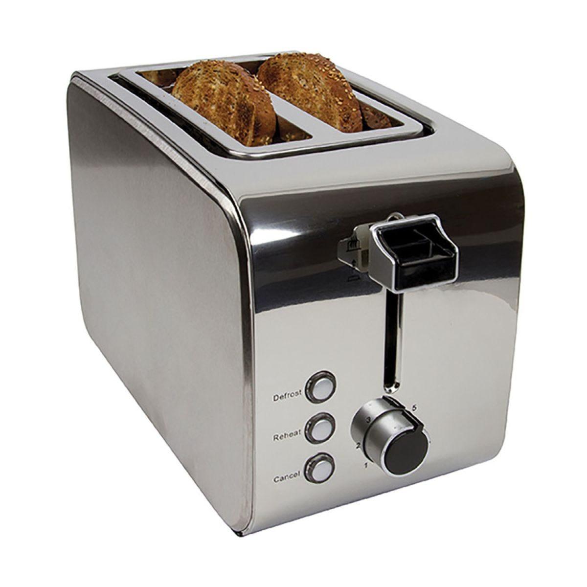 Igenix IG3202 2–Slice 850W Toaster – Stainless Steel