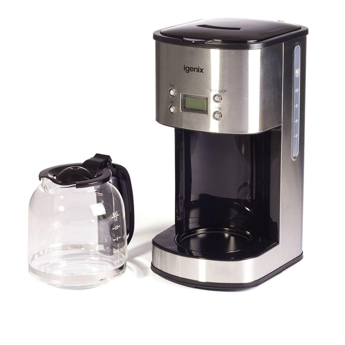 Igenix IG8250 1.5L Filter Coffee Maker – Stainless Steel