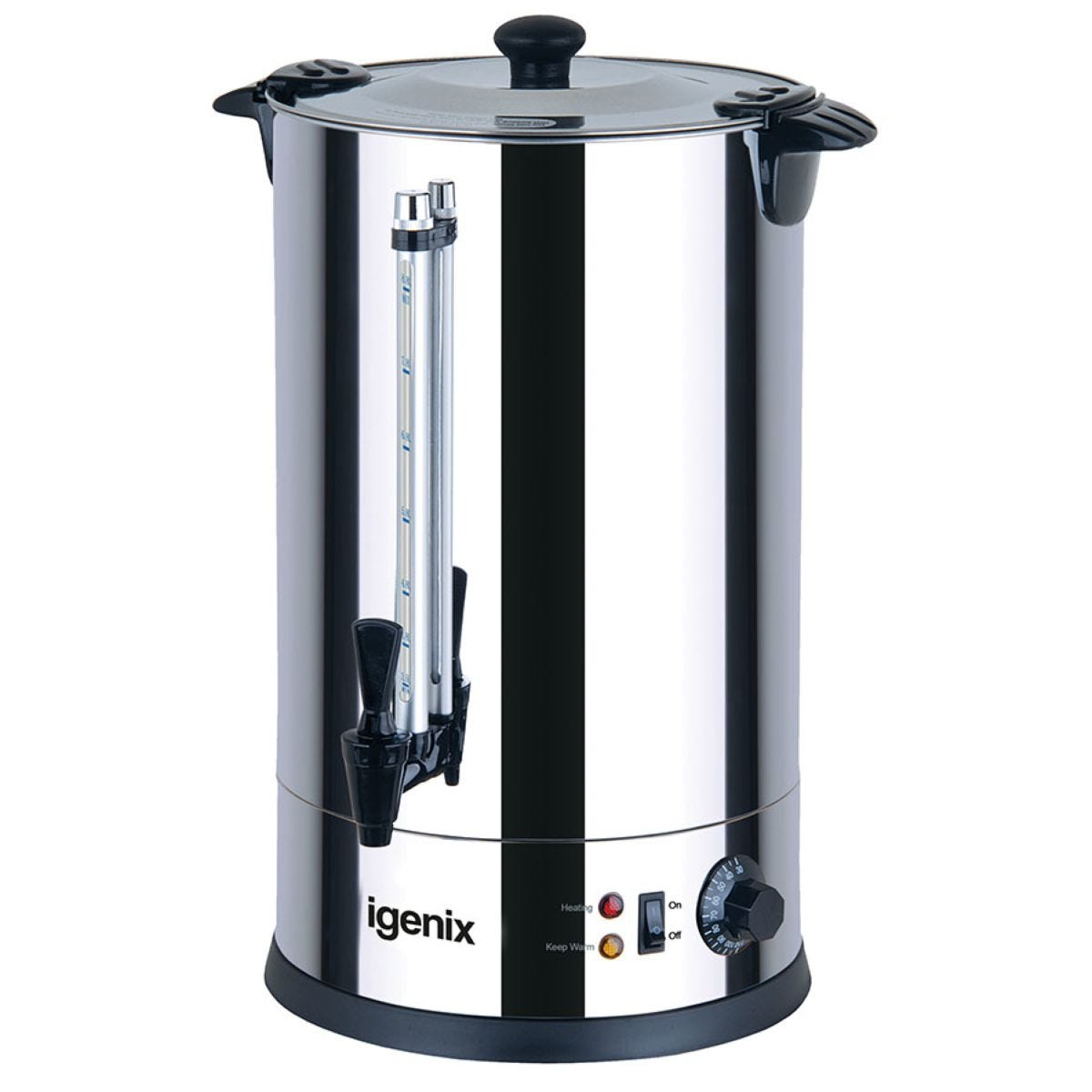 Igenix IG4030 30L Hot Water 2500W Catering Urn – Stainless Steel