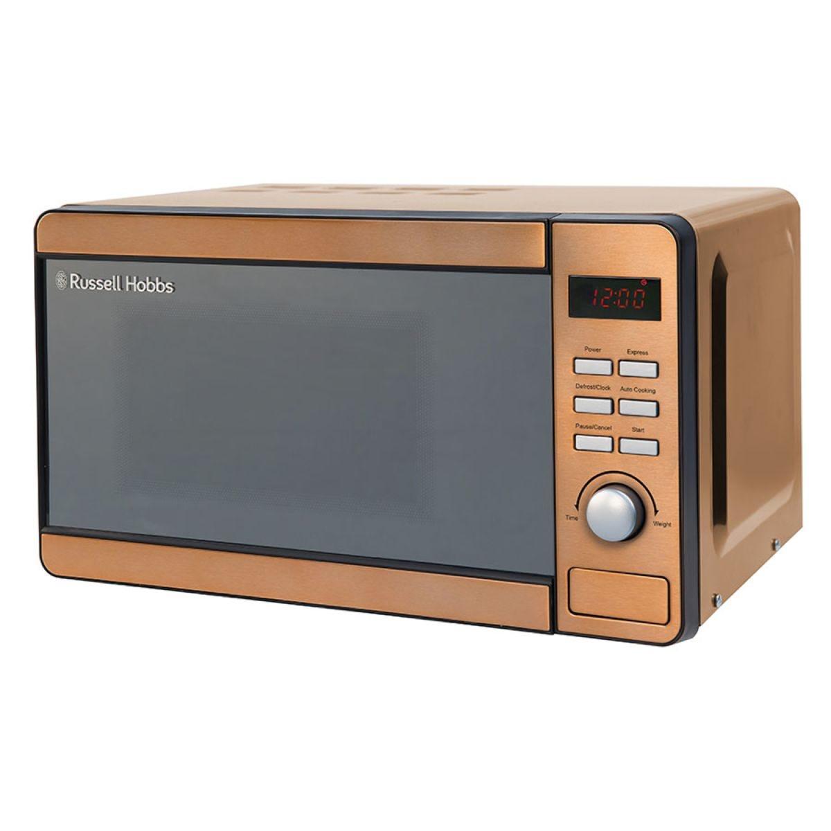 Russell Hobbs RHMM804CP 800W 17L Digital Microwave - Copper
