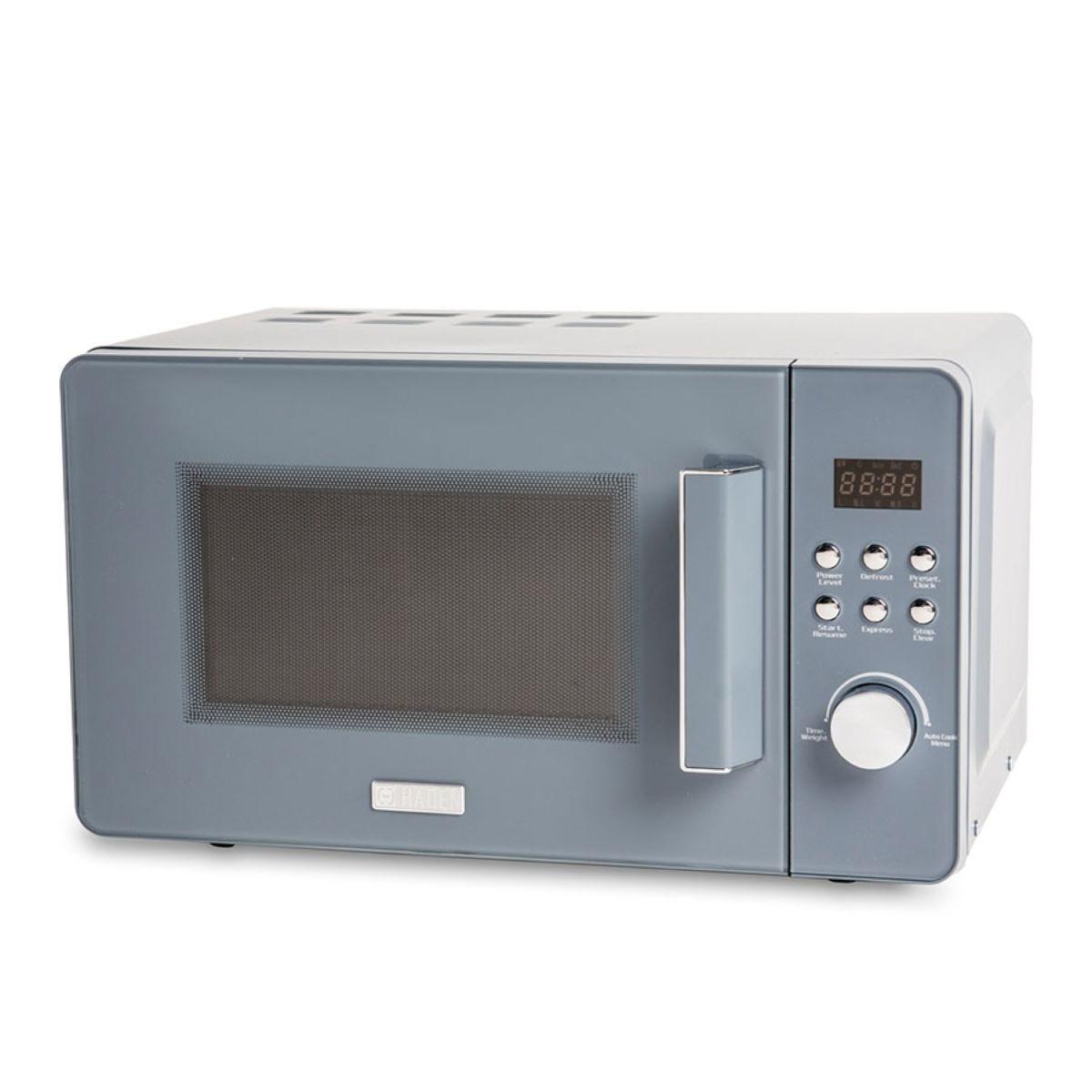 Haden 186690 Perth Sleek 800W 20L Manual Microwave – Slate Grey