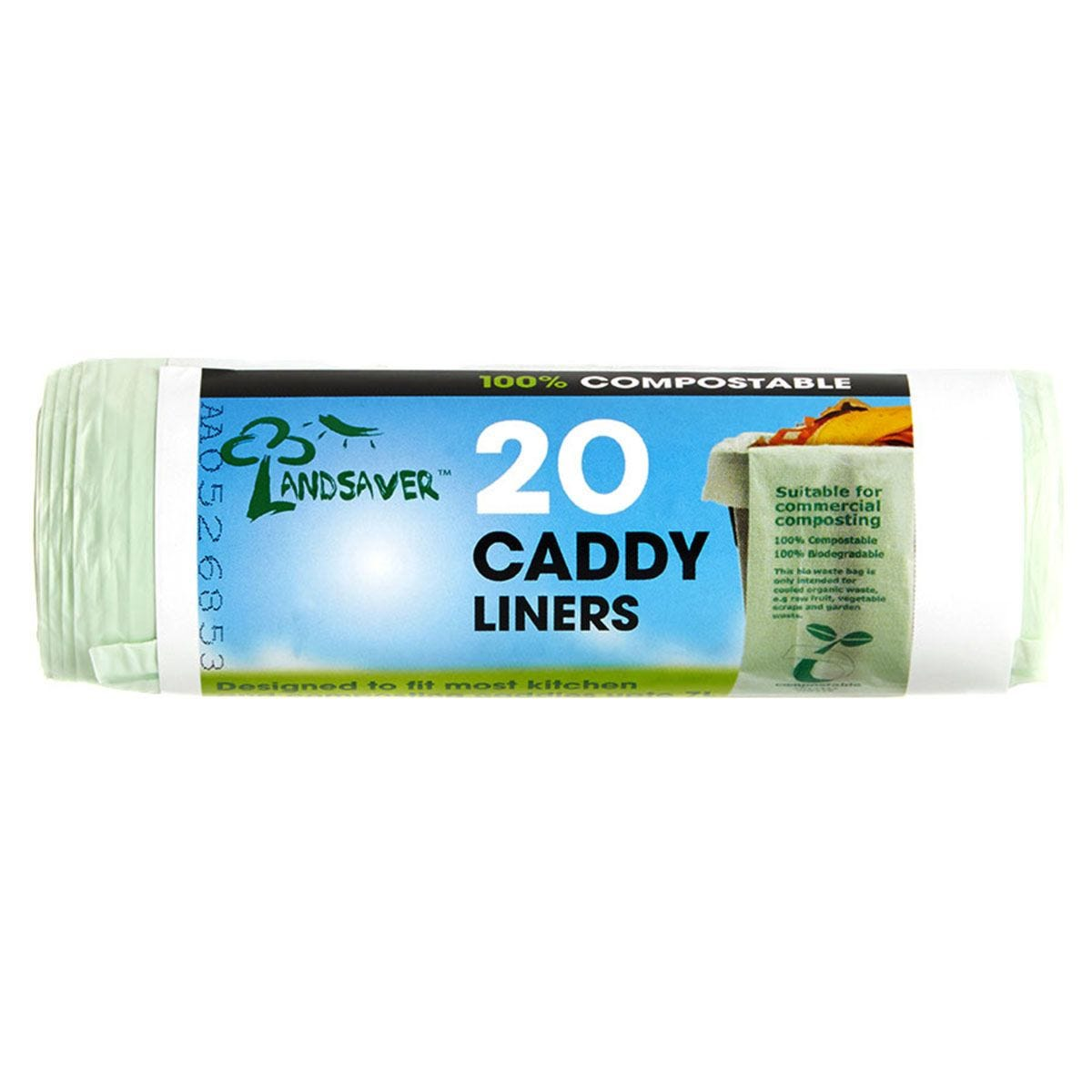 Landsaver Compostable Caddy Liners - Pack of 20