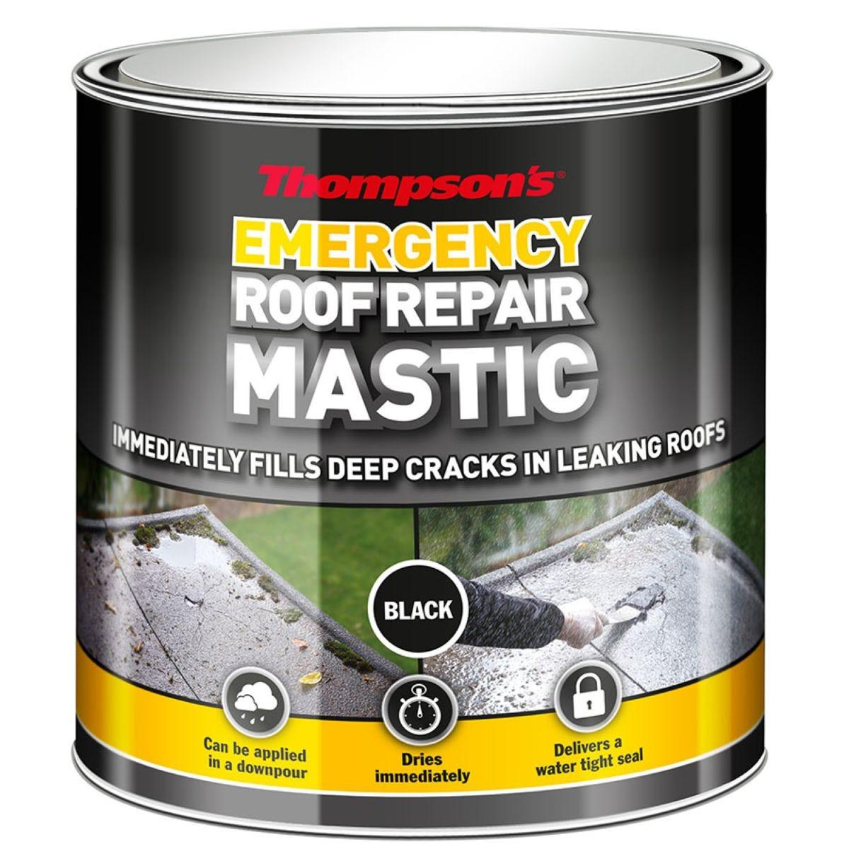 Thompson's Emergency Roof Repair Mastic Black 750ml