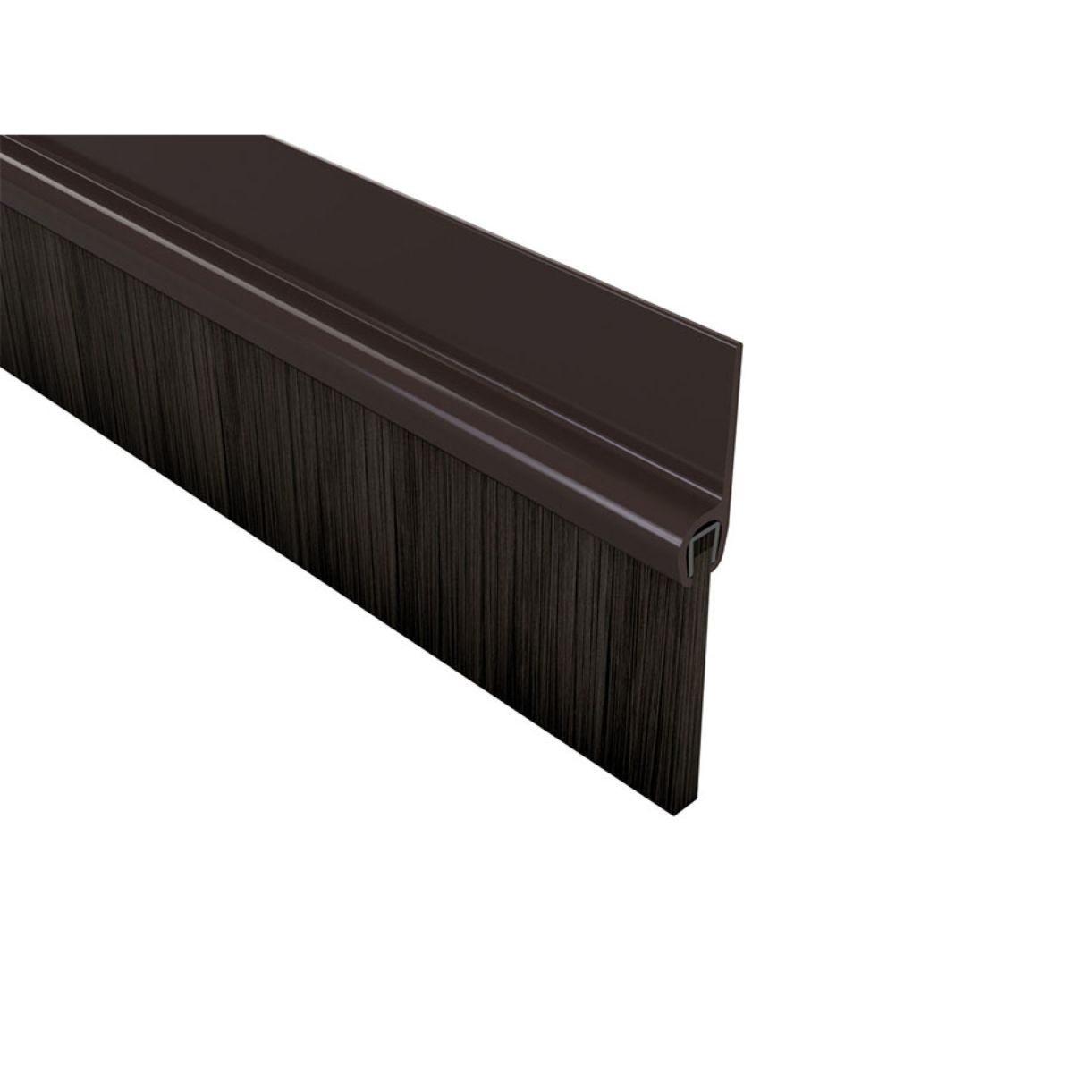 PVC Door Bottom Brush Brown