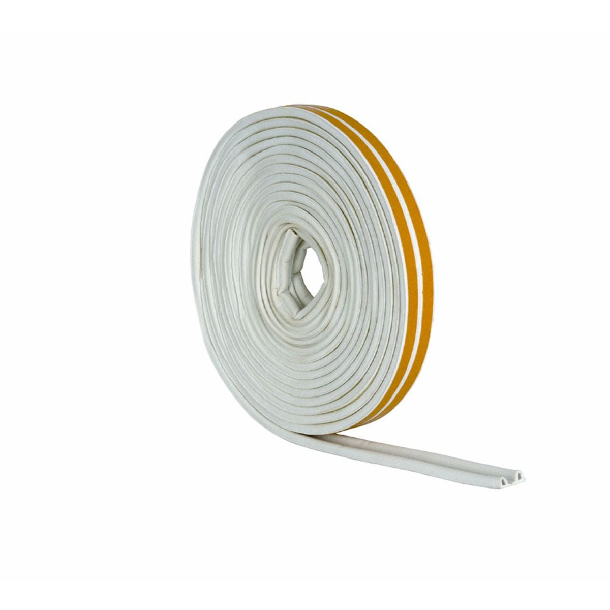 Stormguard 'P' Profile Rubber Draught Seal - 5m, White
