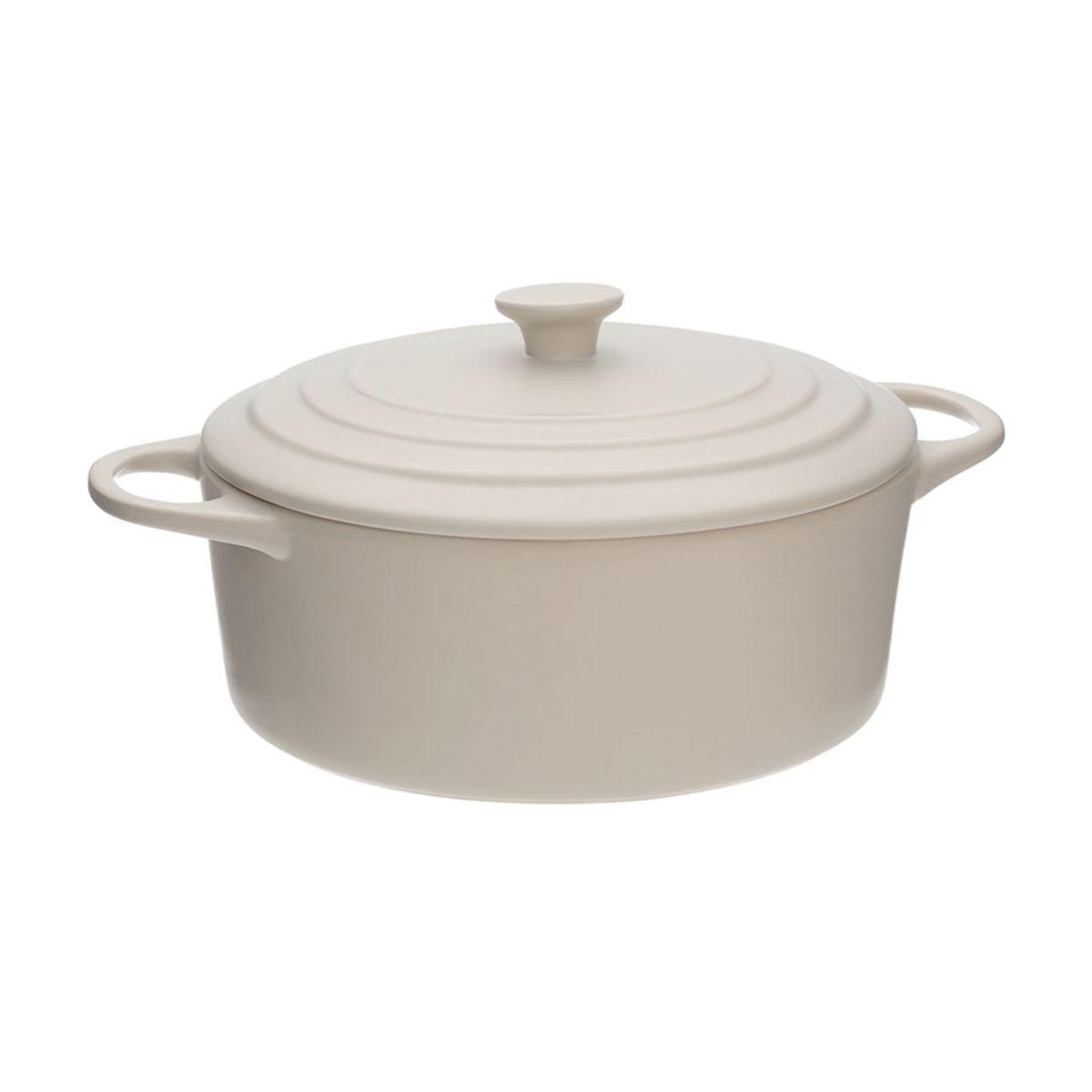 Premier Housewares 2.5L Casserole Dish - Beige