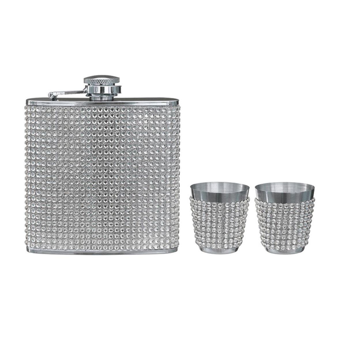 Premier Housewares Hip Flask Set - Stainless Steel