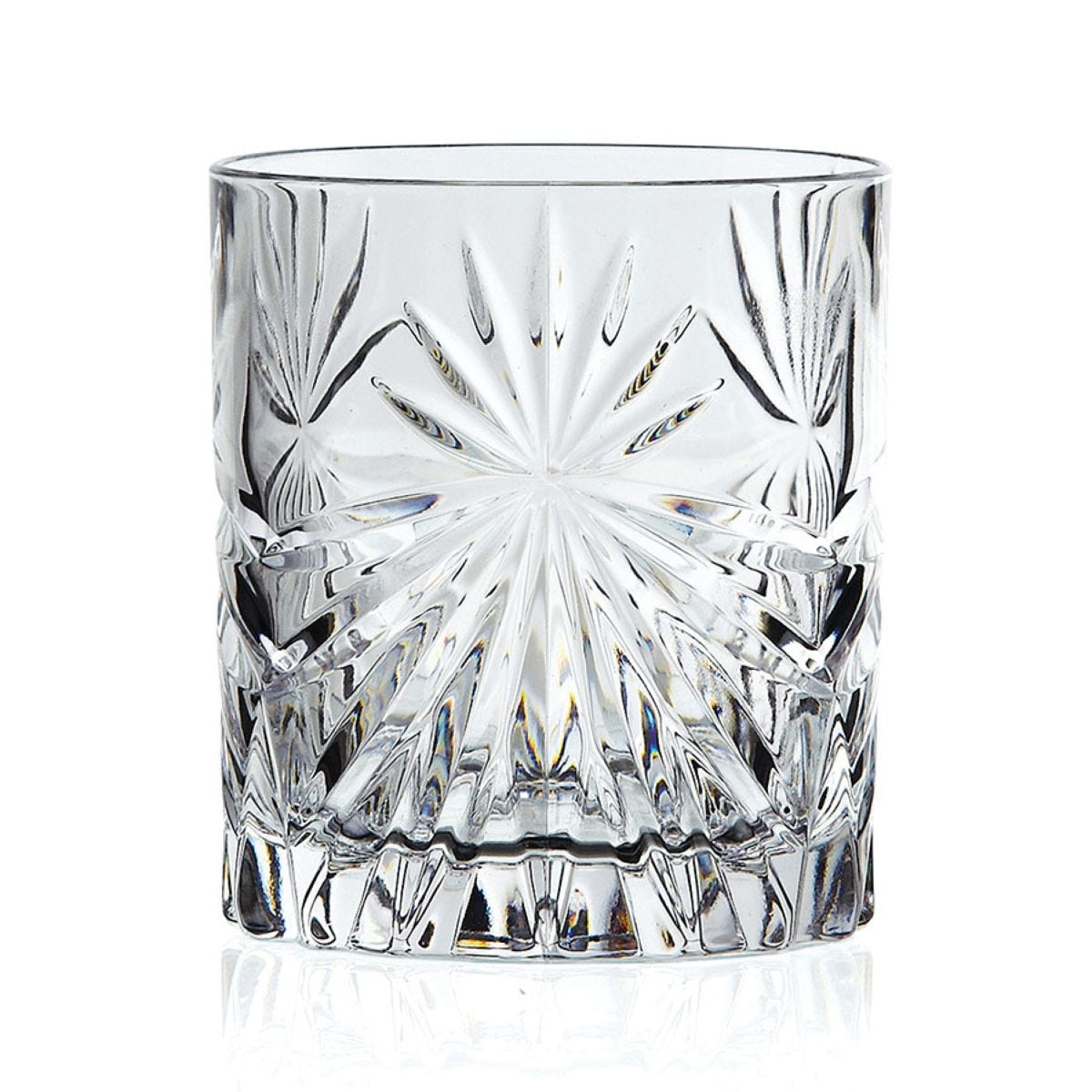 RCR 320ml Oasis Crystal Short Whisky Tumblers Glasses - Set of 6