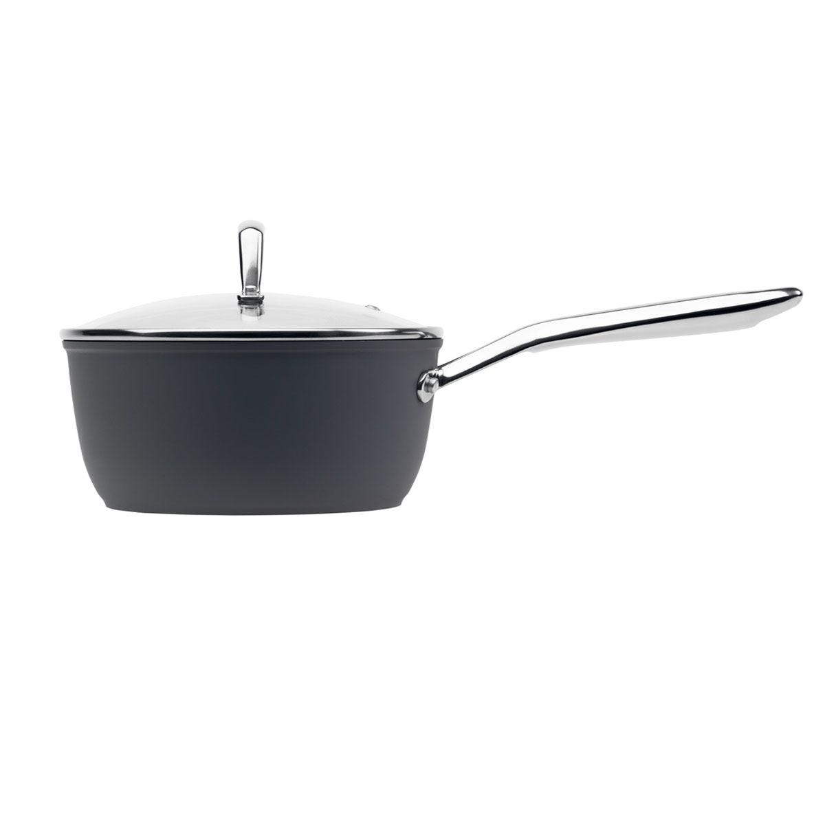 Haden Perth Sleek Non-Stick 16cm Saucepan - Grey