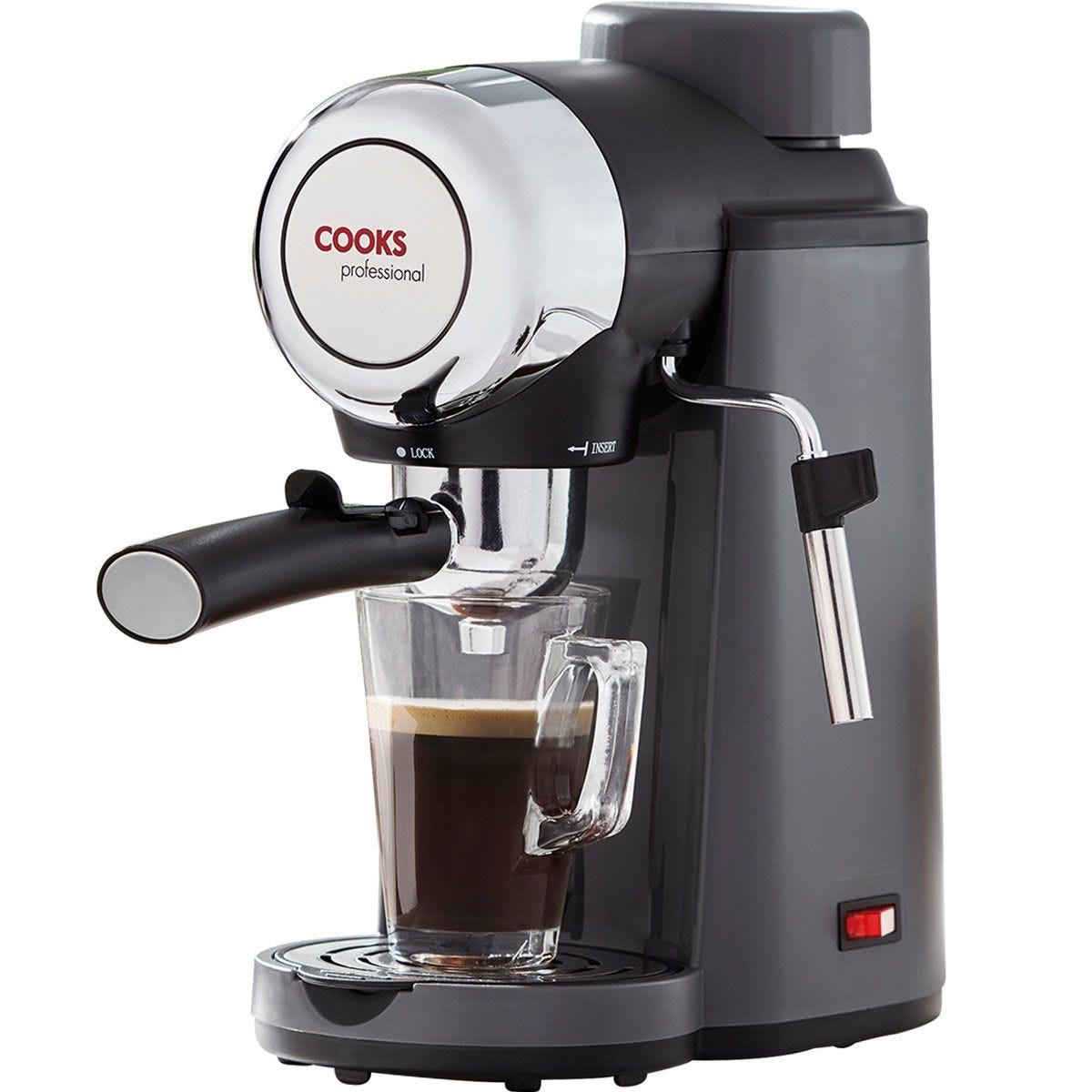 Cooks Professional Espresso Coffee Maker - Grey