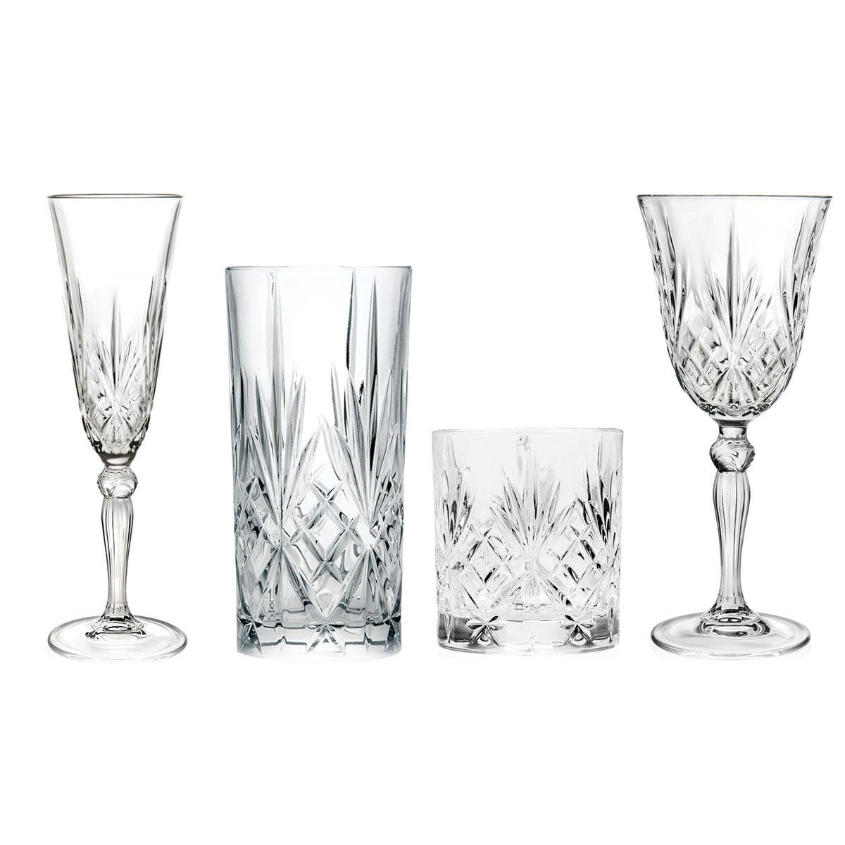 Rcr Melodia Luxion Crystal Drinkware Collection 24 Piece Robert Dyas