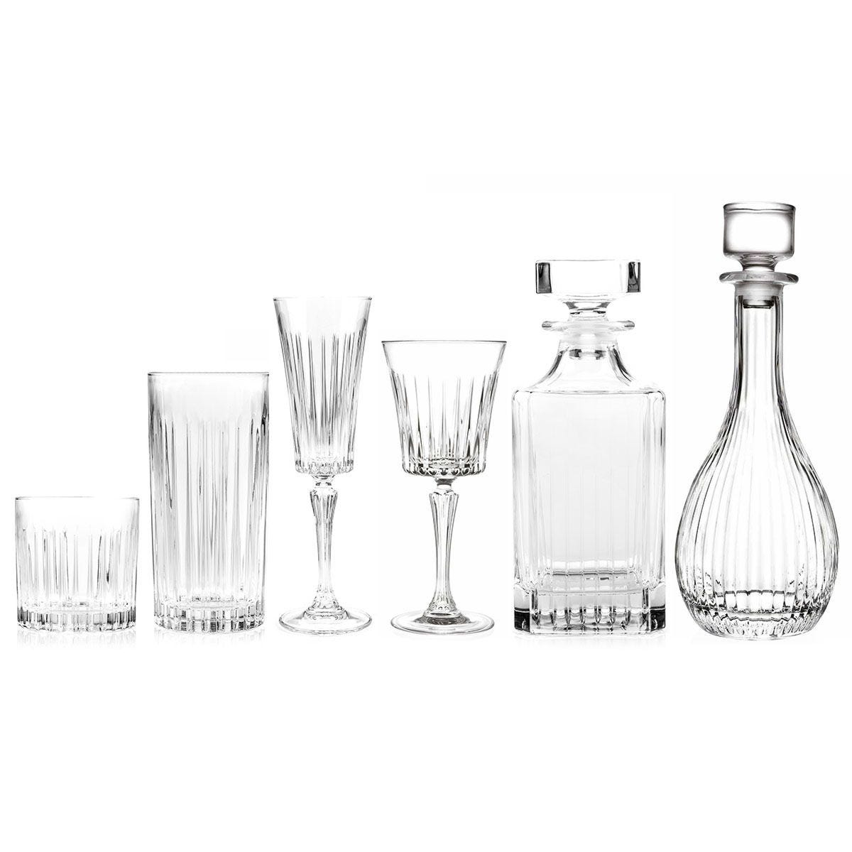RCR Timeless Luxion Crystal Drinkware Collection with Decanters - 26 Piece