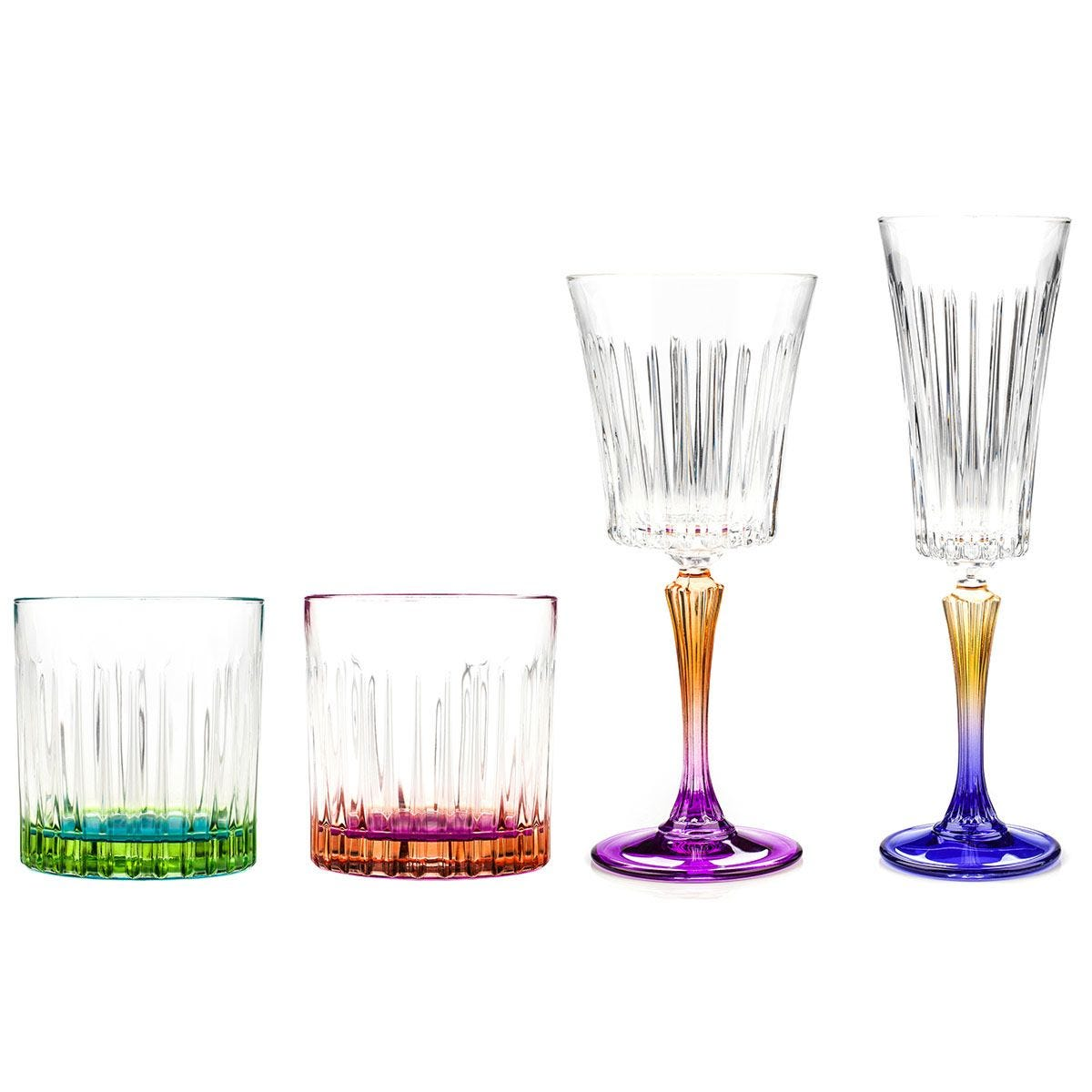RCR Gipsy Luxion Crystal Drinkware Collection - 24 Piece