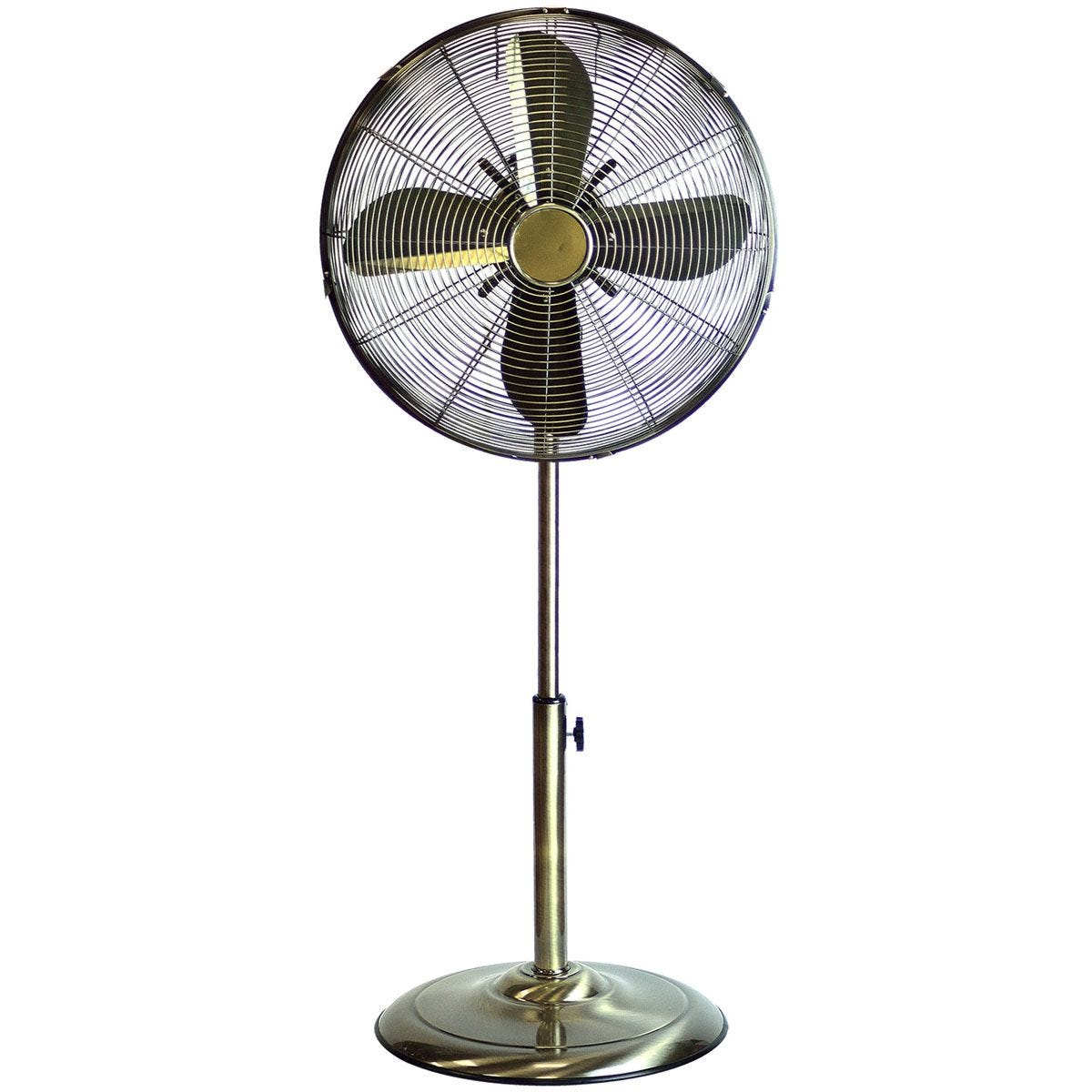 Status 16 Inch Oscillating Pedestal Floor Fan - Antique Brass
