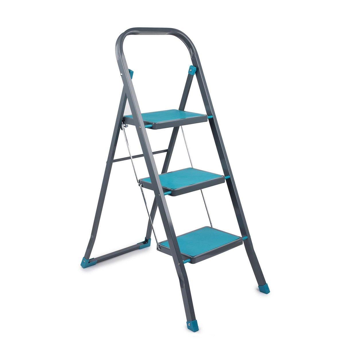 Beldray 3 Step DIY Hobby Stepladder - Turquoise