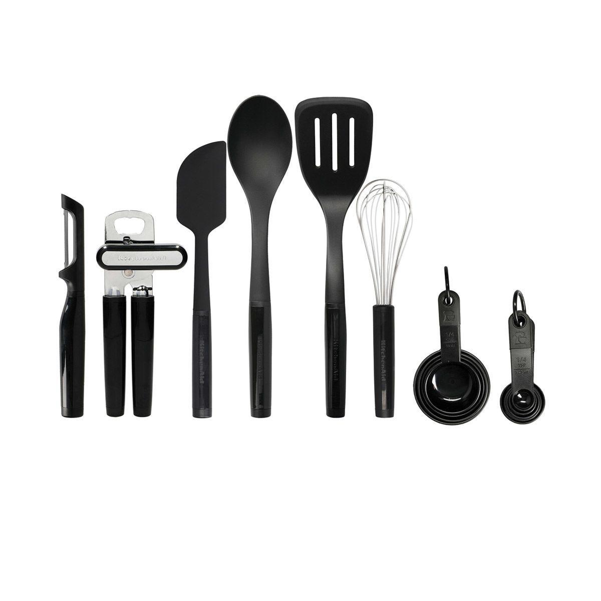 KitchenAid Tool and Gadget Set of 15 Pieces - Black