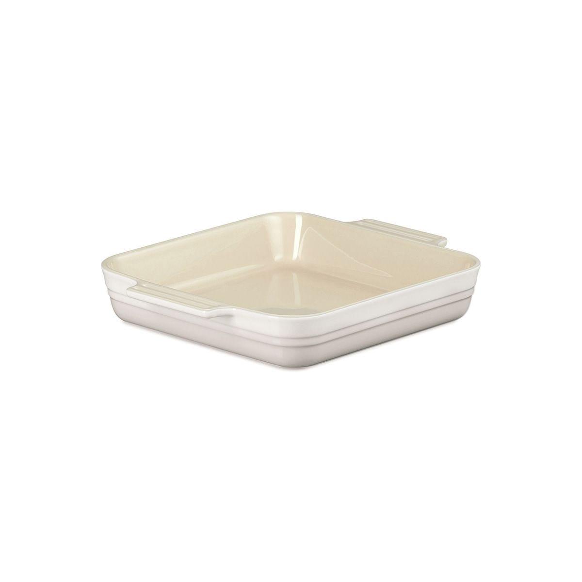 Le Creuset Stoneware 23cm Classic Square Dish Meringue