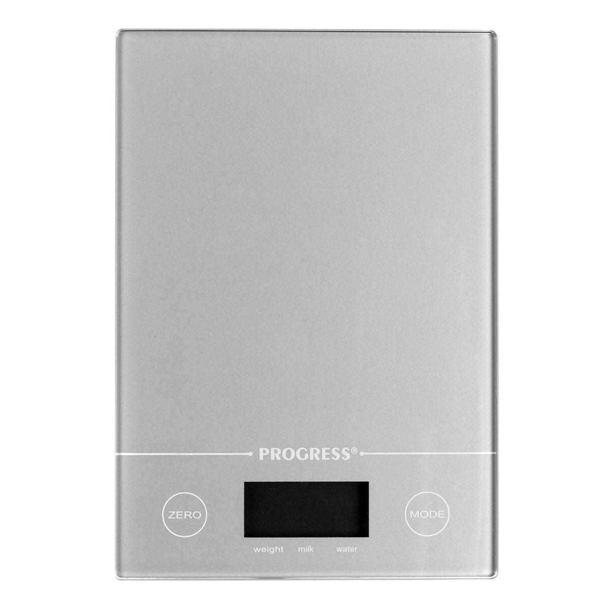 Progress Metallics Slimline Digital Kitchen Tab Scale - Silver