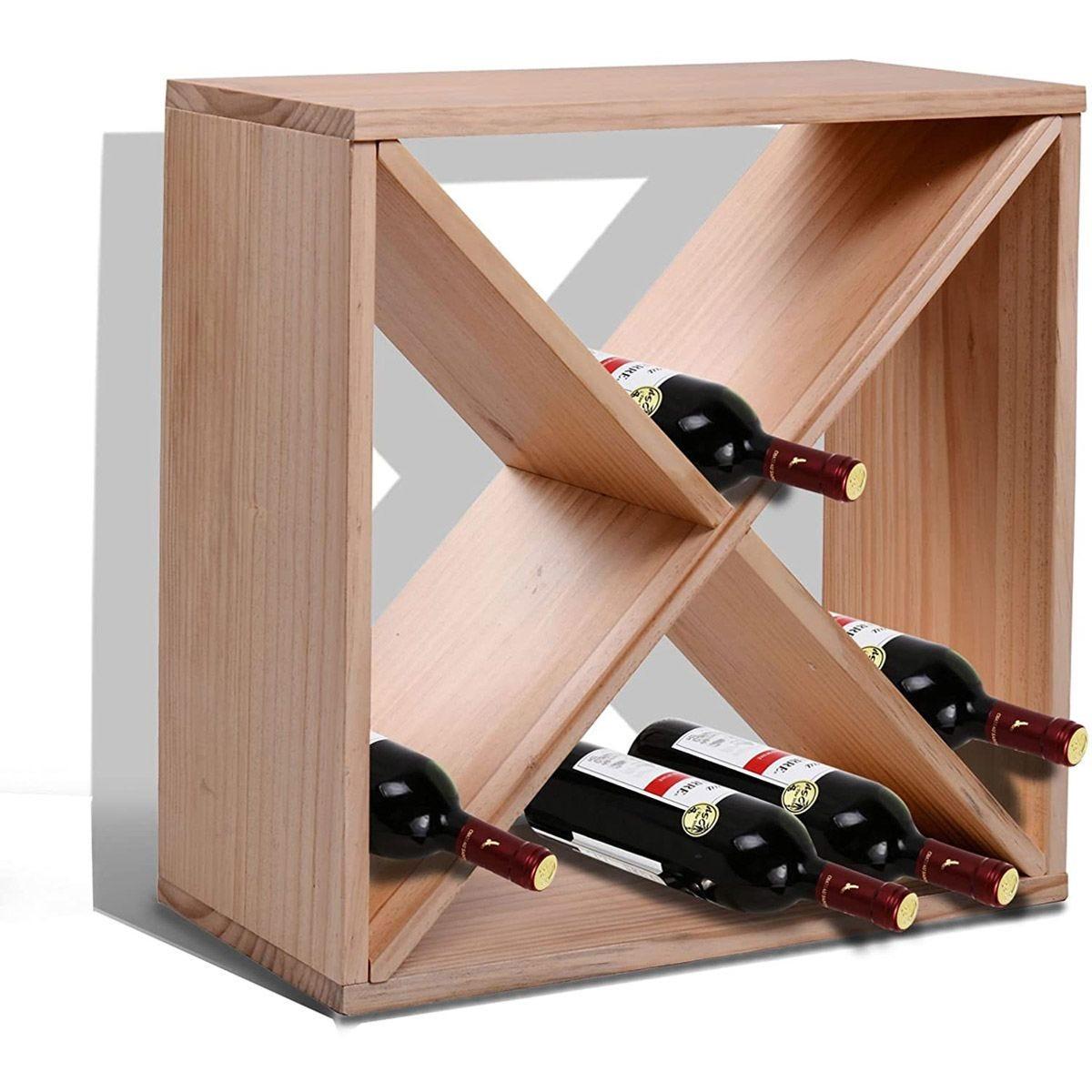 Wooden 24 Bottle Wine Rack