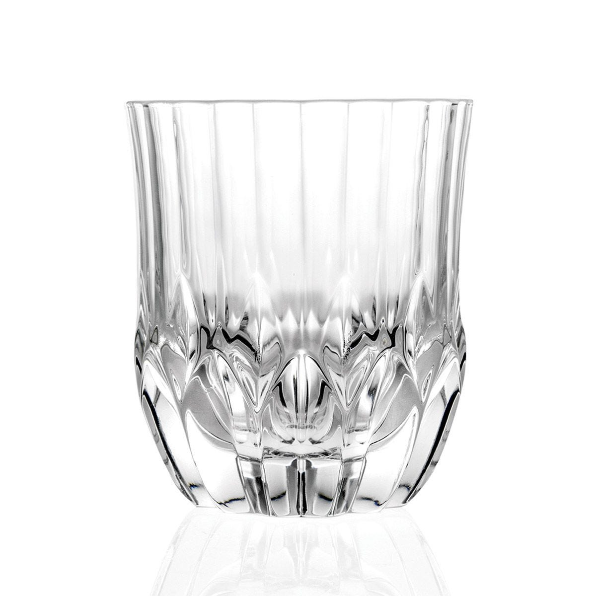 RCR Adagio Crystal Short Whisky Water Tumbler Glasses Set of 6