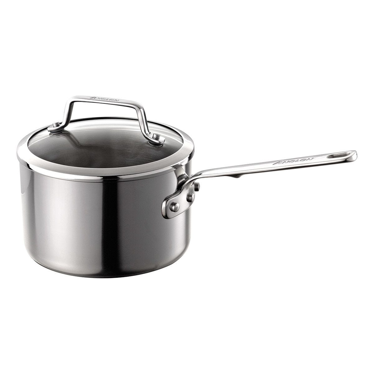 Anolon Tri Ply 18cm Saucepan - Stainless Steel