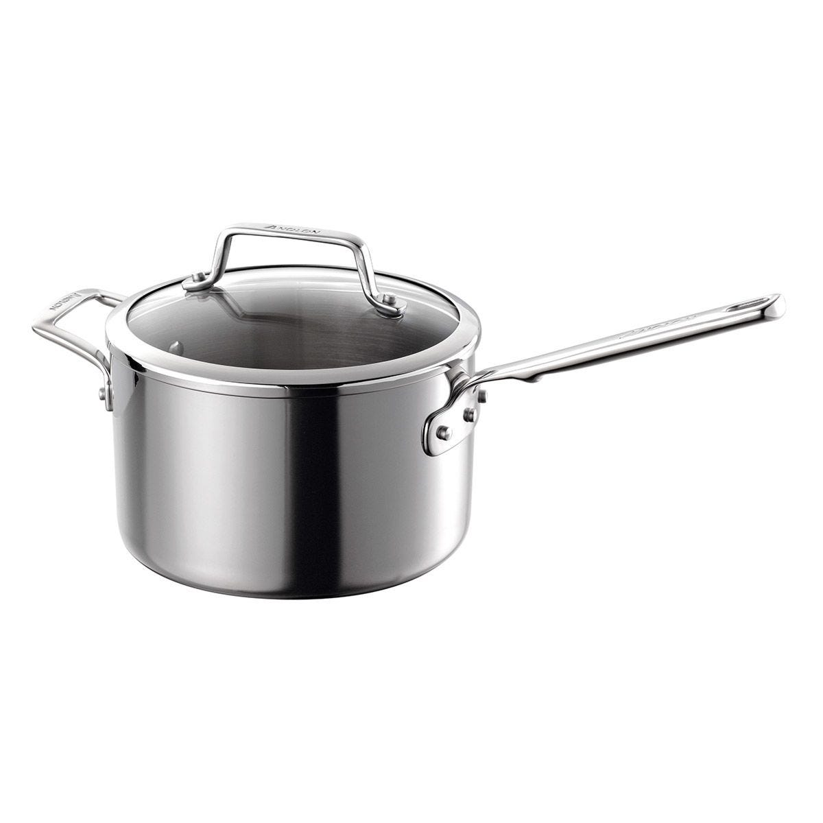 Anolon Tri Ply 20cm Saucepan - Stainless Steel