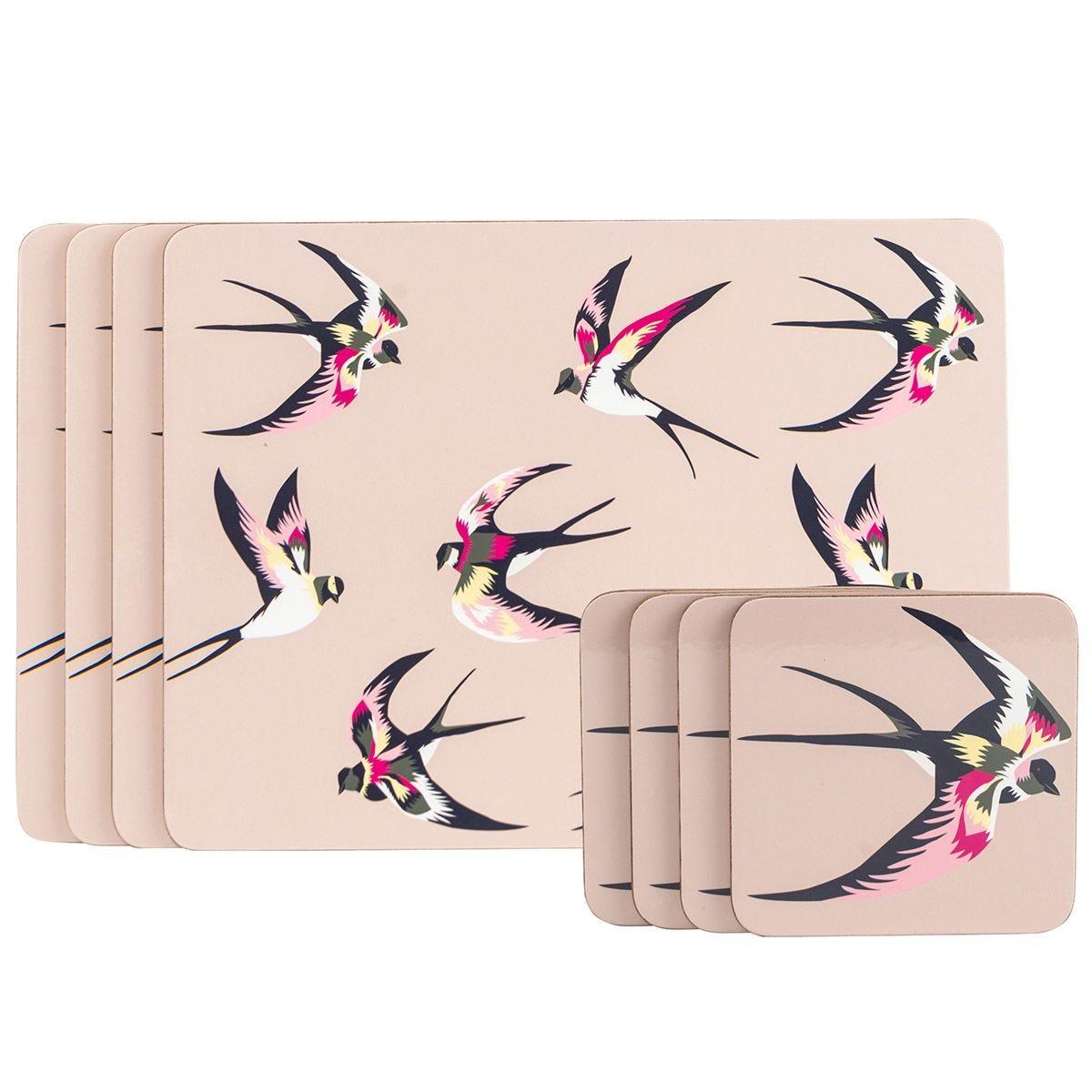Summerhouse Guatemala Swallow Set of 4 Coasters & 4 Placemats