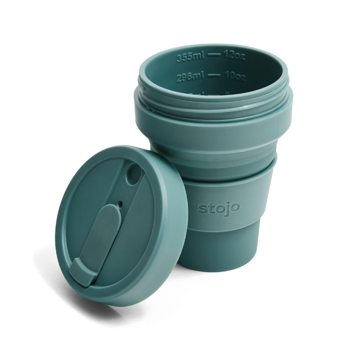 Stojo Collapsible Pocket Cup 12oz - Eucalyptus