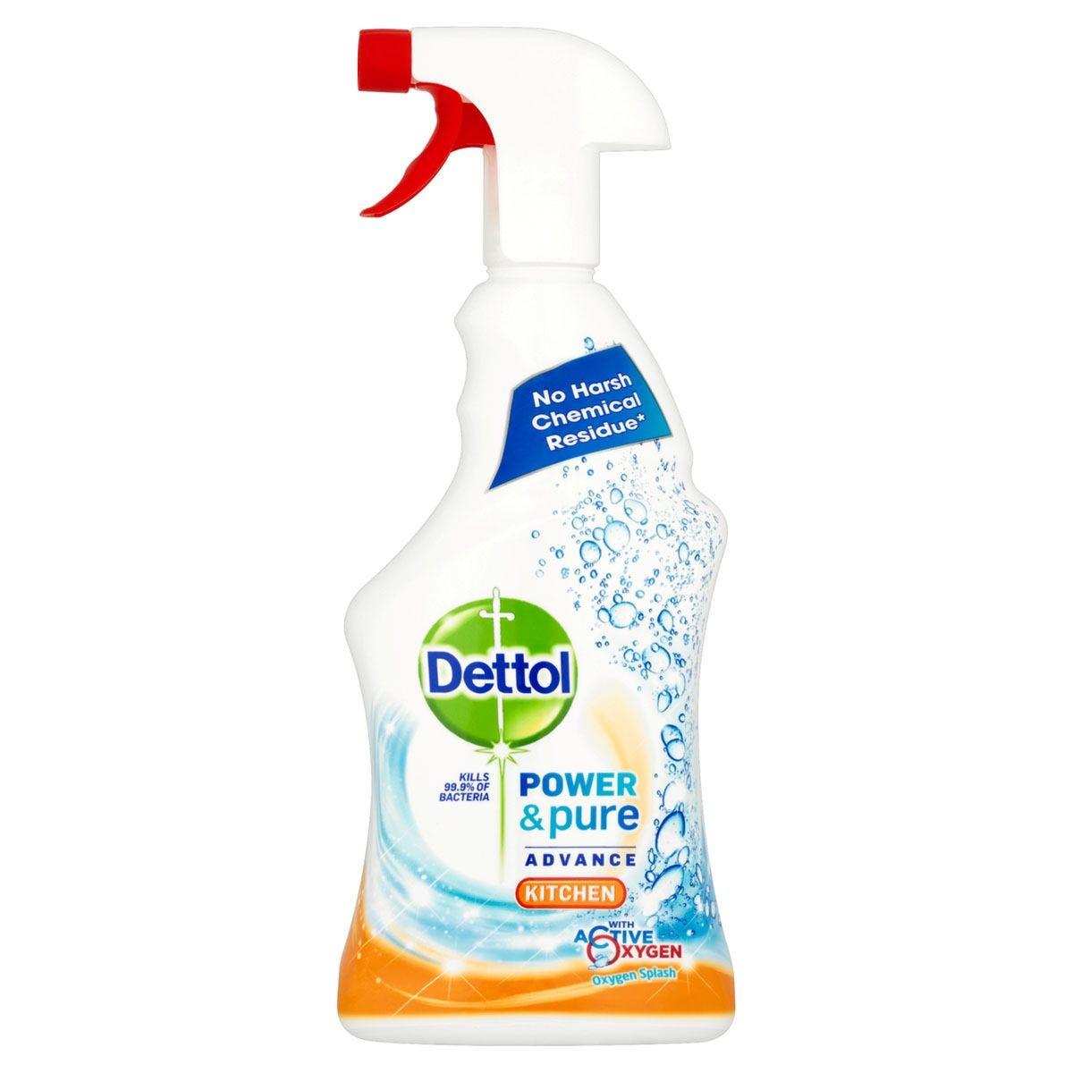 Dettol Power & Pure Antibacterial Kitchen Spray - 750ml