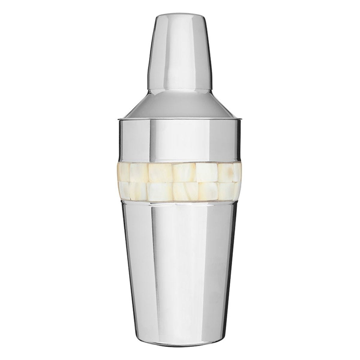 Premier Housewares Mother of Pearl Cocktail Shaker - Stainless Steel