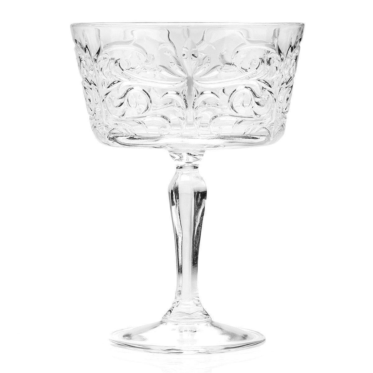 RCR Crystal Glassware Tattoo Champagne Goblet Glasses - Set of 6