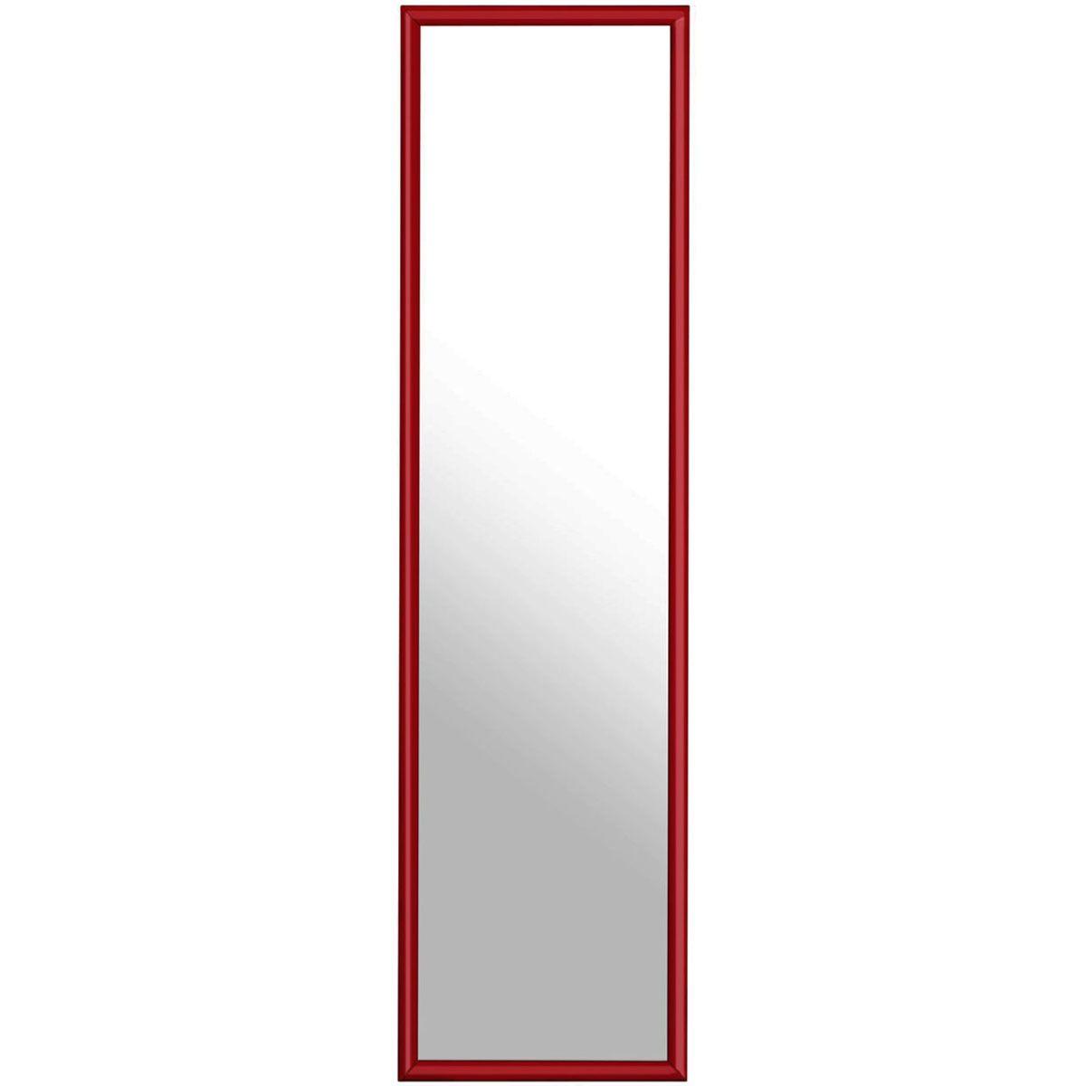 Premier Housewares Plastic Frame Over Door Mirror - Red