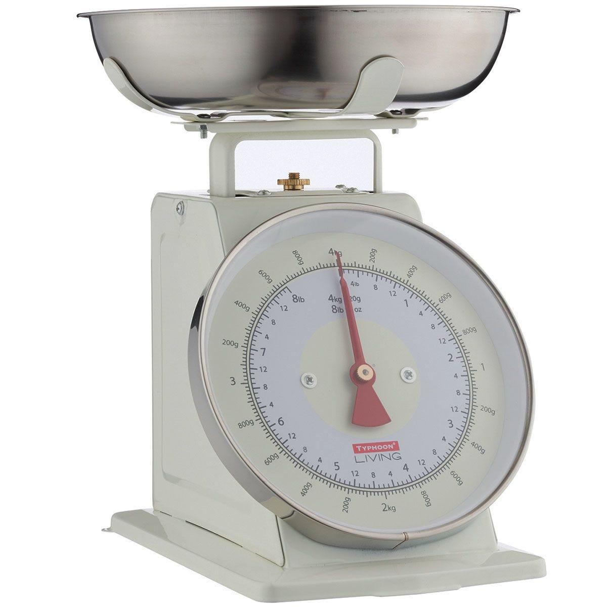Typhoon Living Mechanical Kitchen Scales - Cream