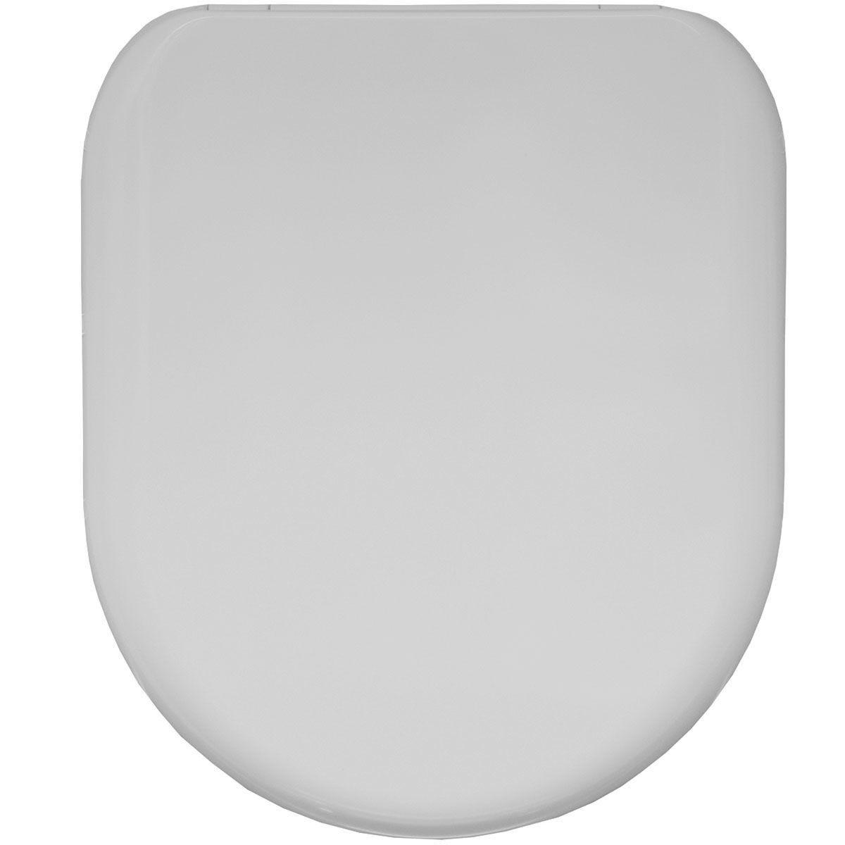 Bemis Plastic D Shape Push Button Top Fix Slow Close Toilet Seat