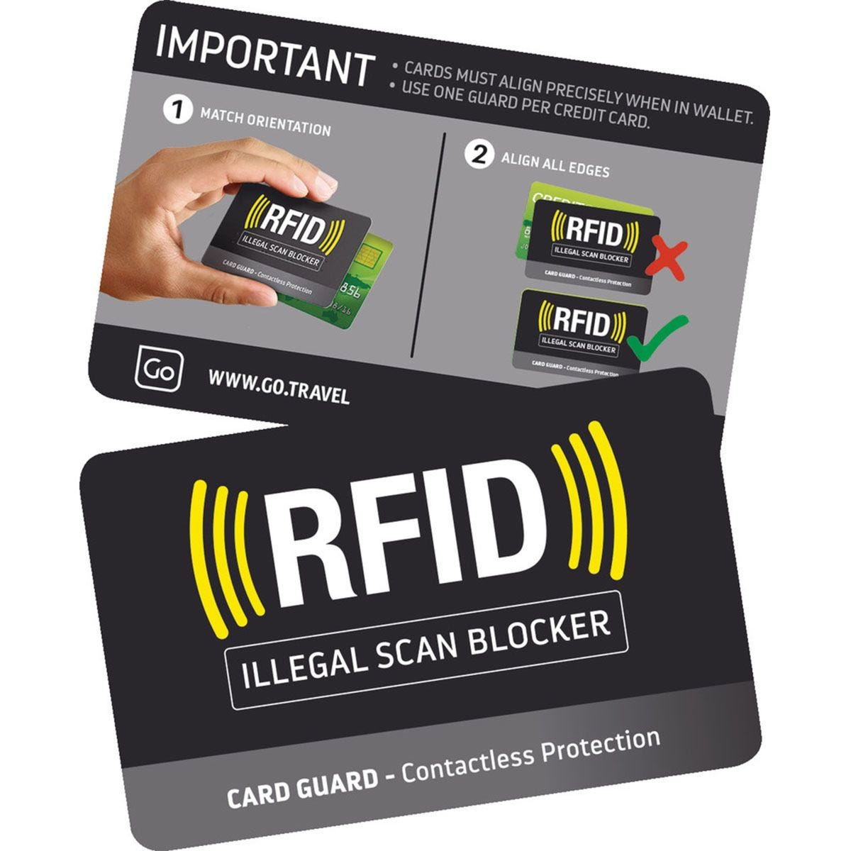 Go Travel RFID Card Guards - Pack of 2