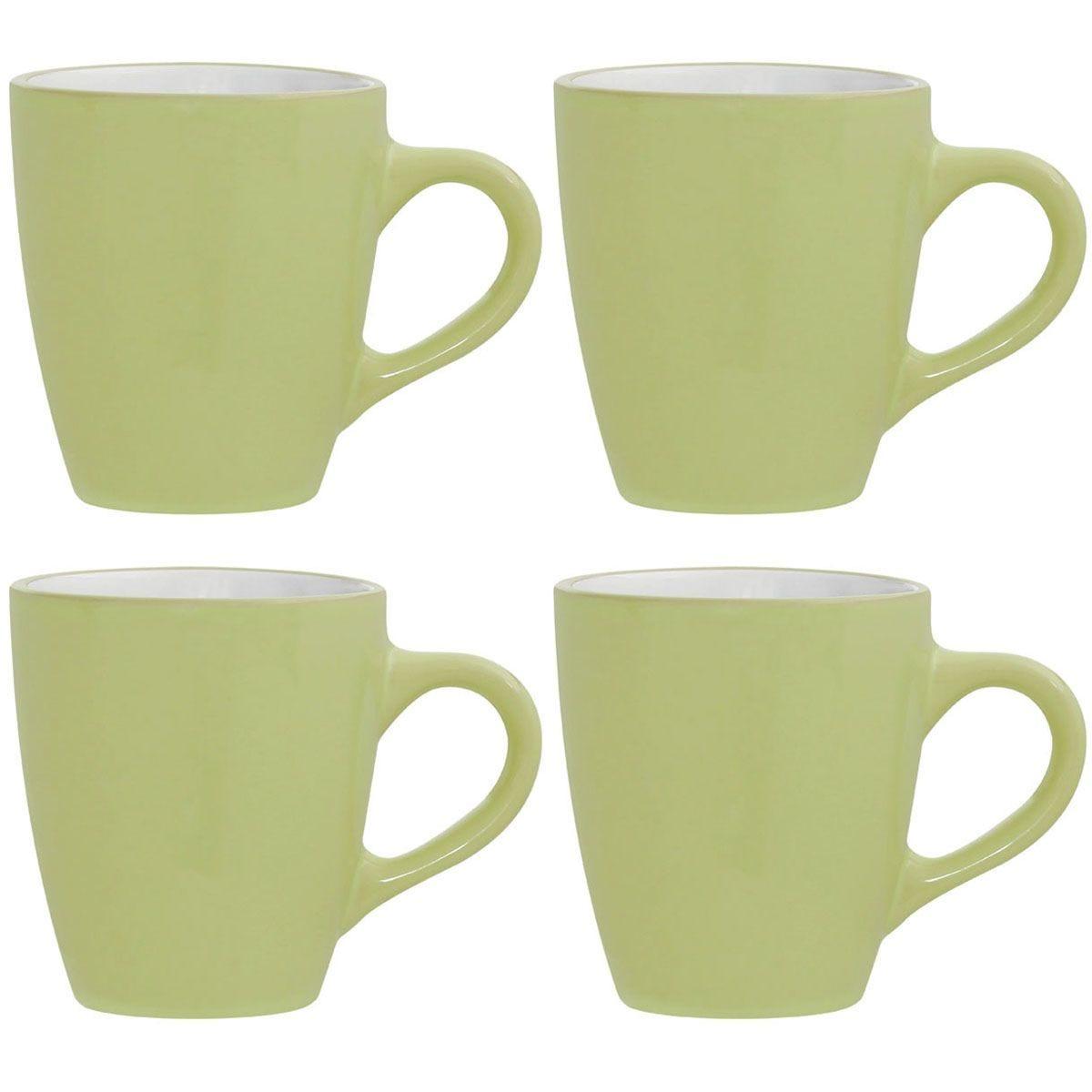 Premier Housewares Green Sienna Mugs - Set of 4