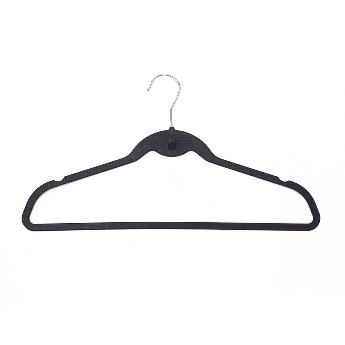 JVL Blue Plastic Space Saving Coat Hangers - Pack of 60