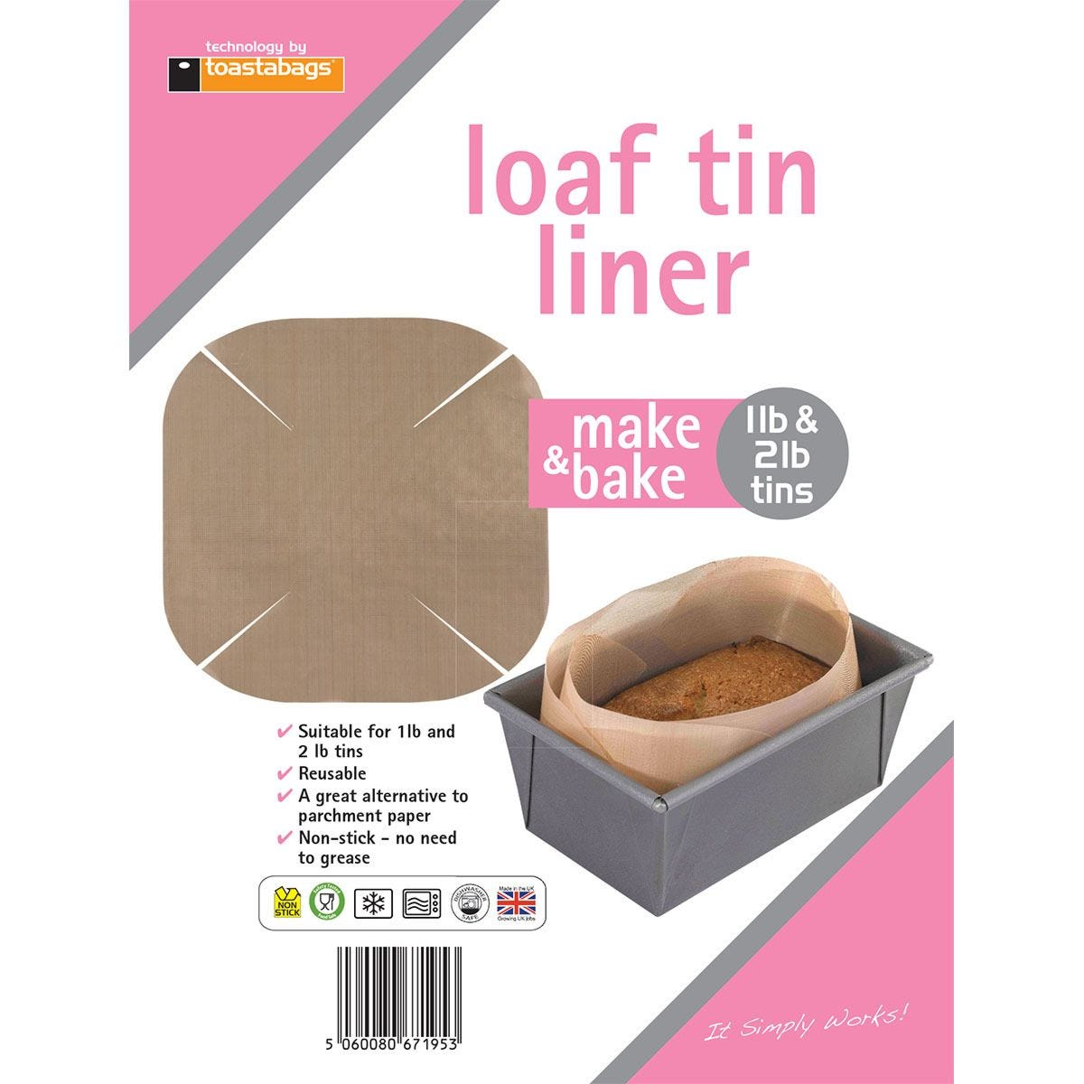 Toastabags Reusable Non-Stick Loaf Tin Liner