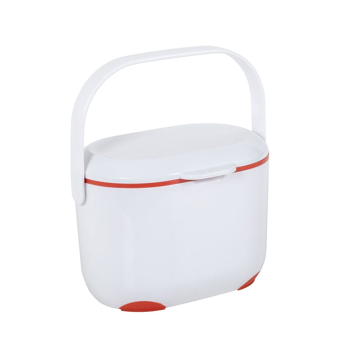 Addis 2.5L Compost Caddy - White and Flame