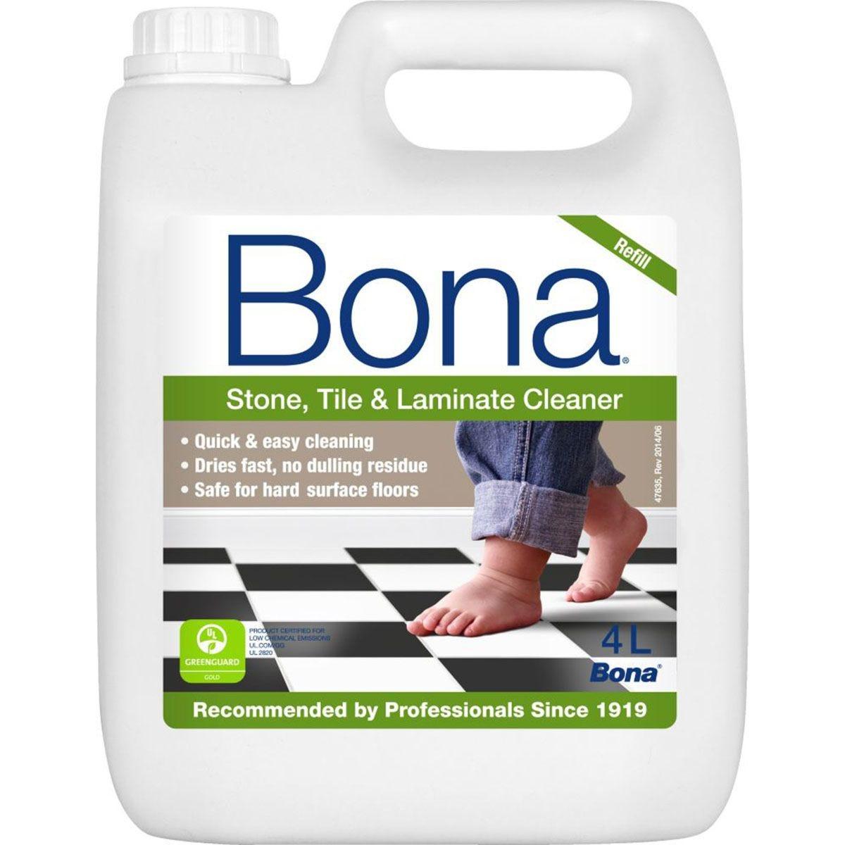 Bona Stone, Tile and Laminate Floor Cleaner Refill - 4L