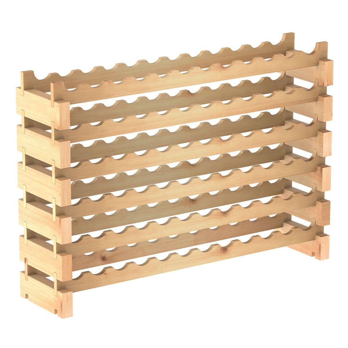 Wooden 72 Bottle 6-Tier Shelf Wine Rack